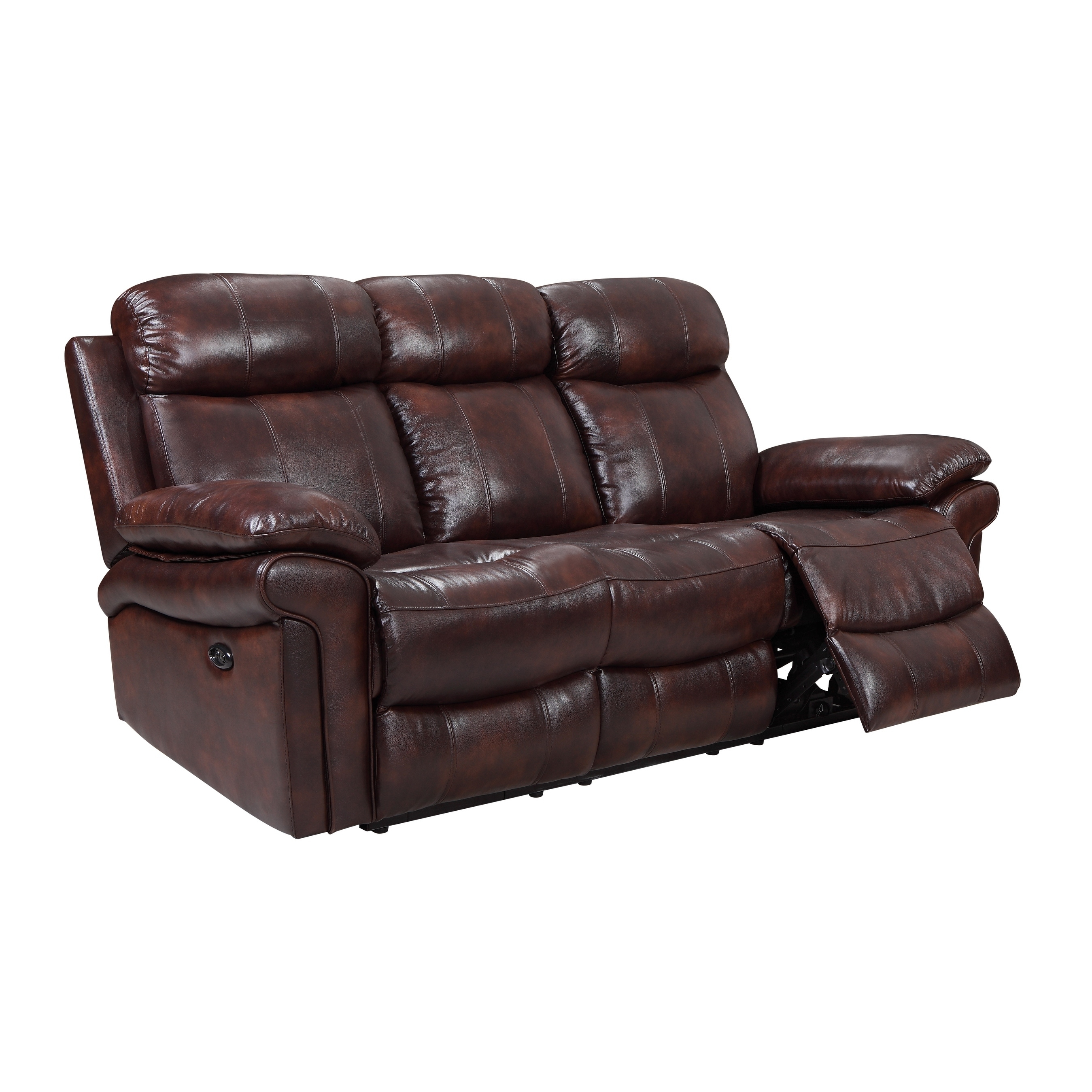 Hudson Sofa Collection Reviews Hudson Power Reclining Top Grain Leather Sofa Brown Blue Red