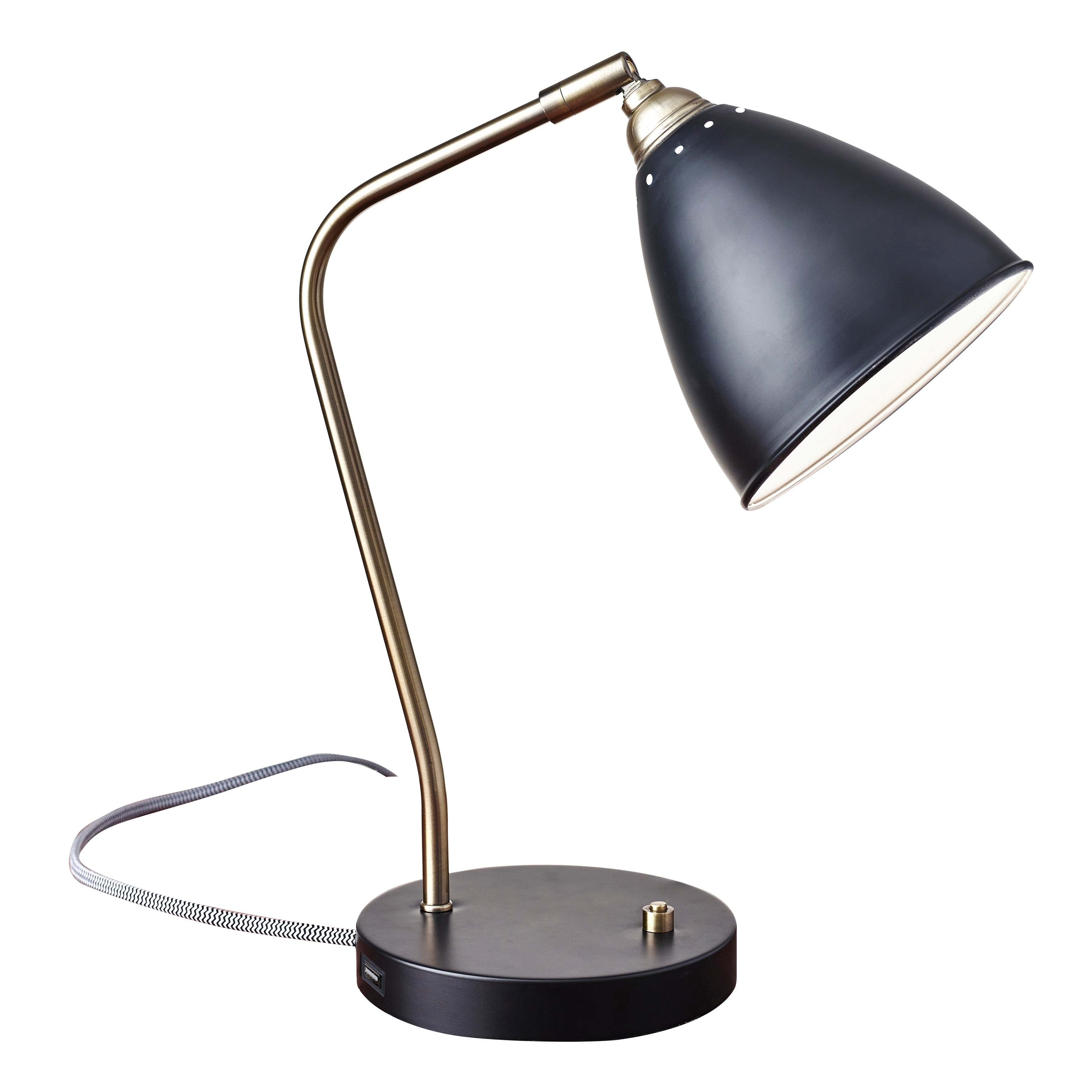Desk Lamp Adesso Antique Brass Adjustable Chelsea Desk Lamp
