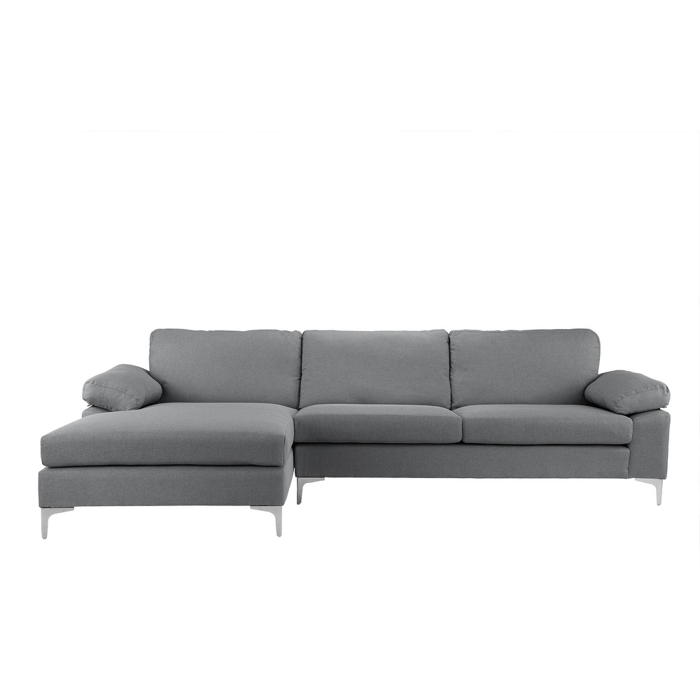 Sofa L Images Modern Large Linen Sectional Sofa L Shape Couch Wide Chaise