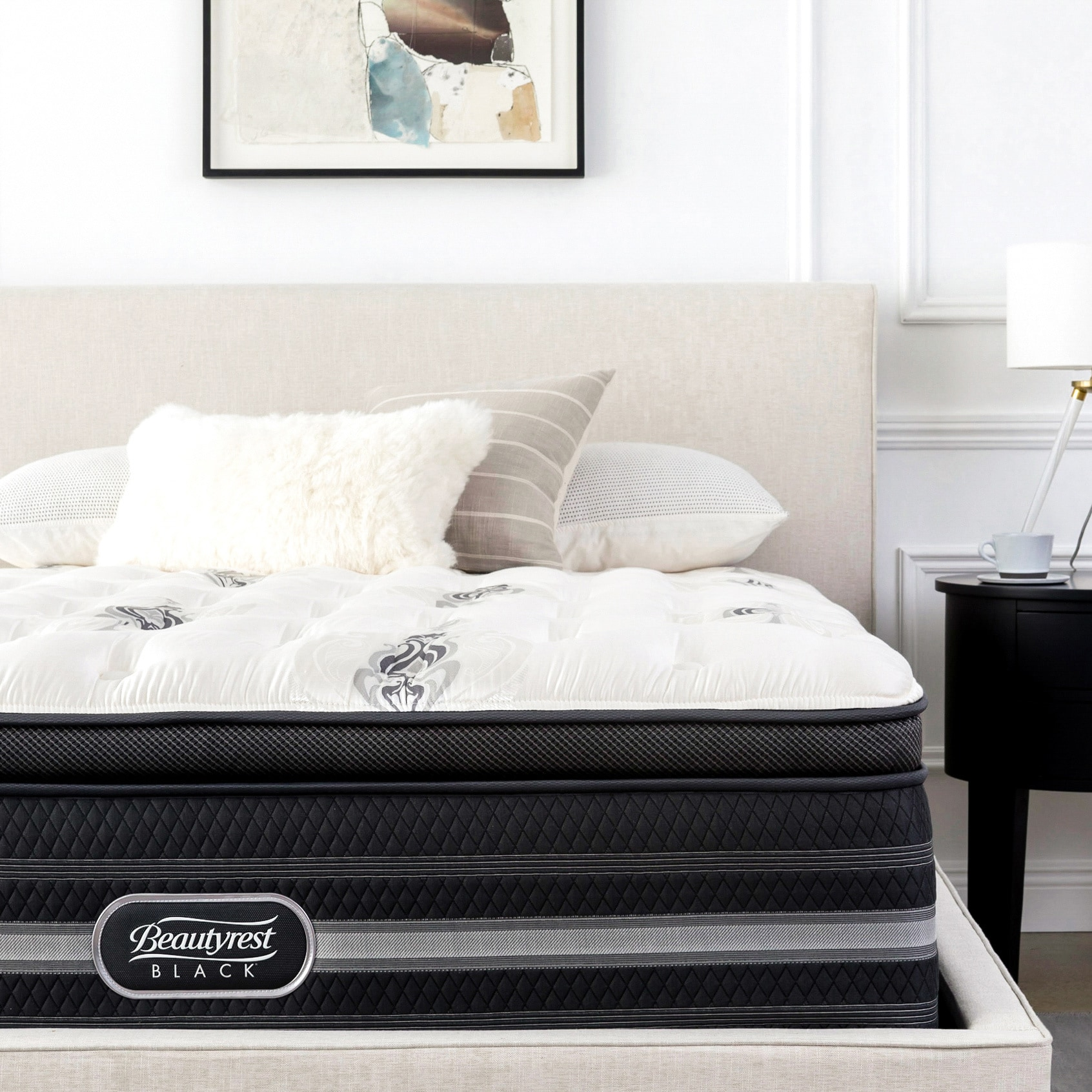 Beautyrest Black King Size Beautyrest Black Sonya 18 Inch Medium Firm Pillow Top King Size Mattress Set N A