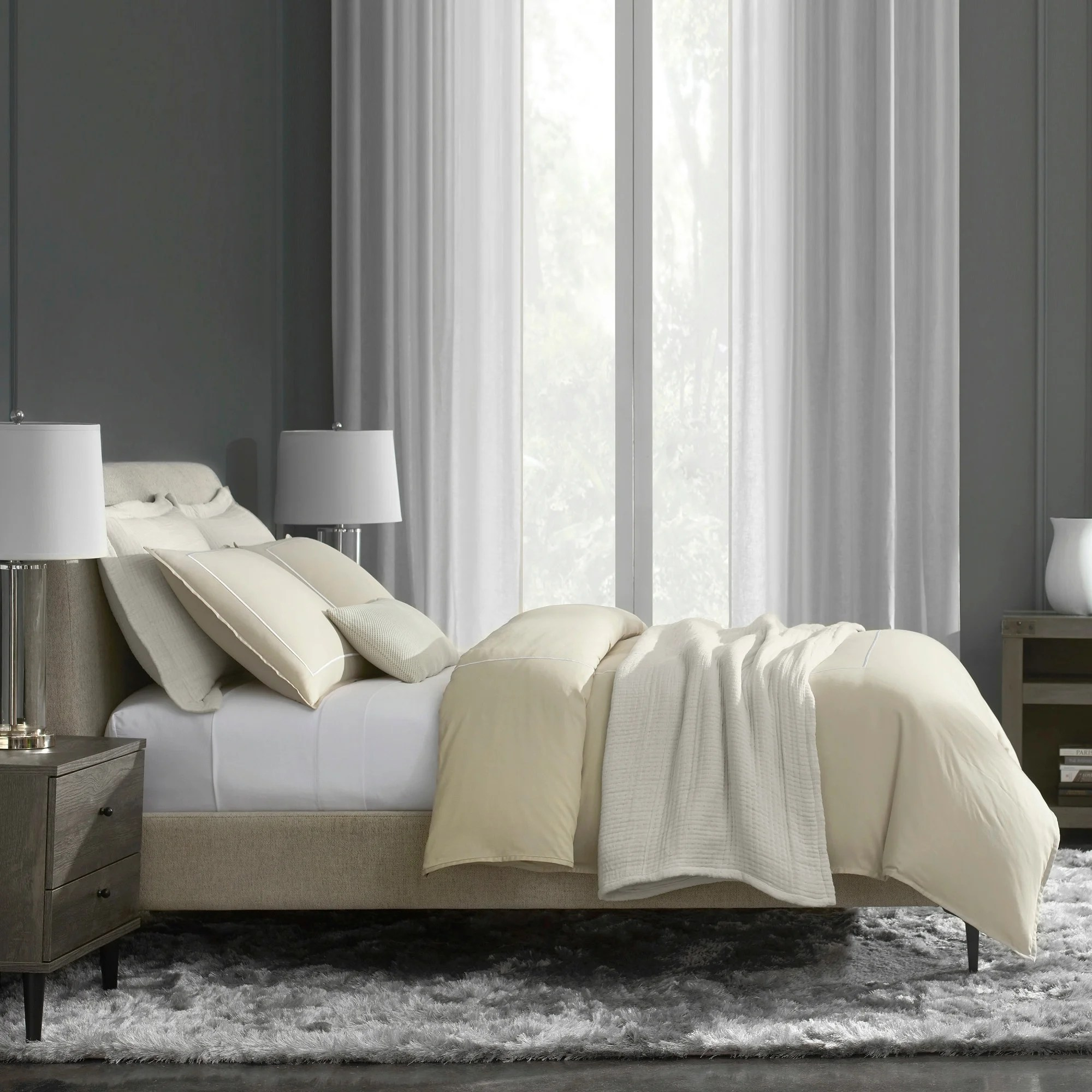 Satin Duvet Cover Flatiron Hotel Satin Stitch Duvet Cover