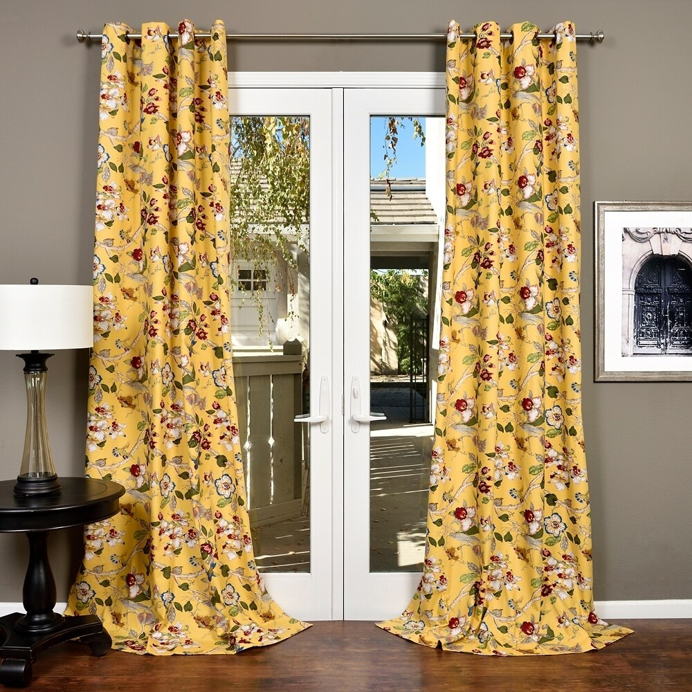 Cotton Curtain Panels Lambrequin Ella Cotton Curtain Panel