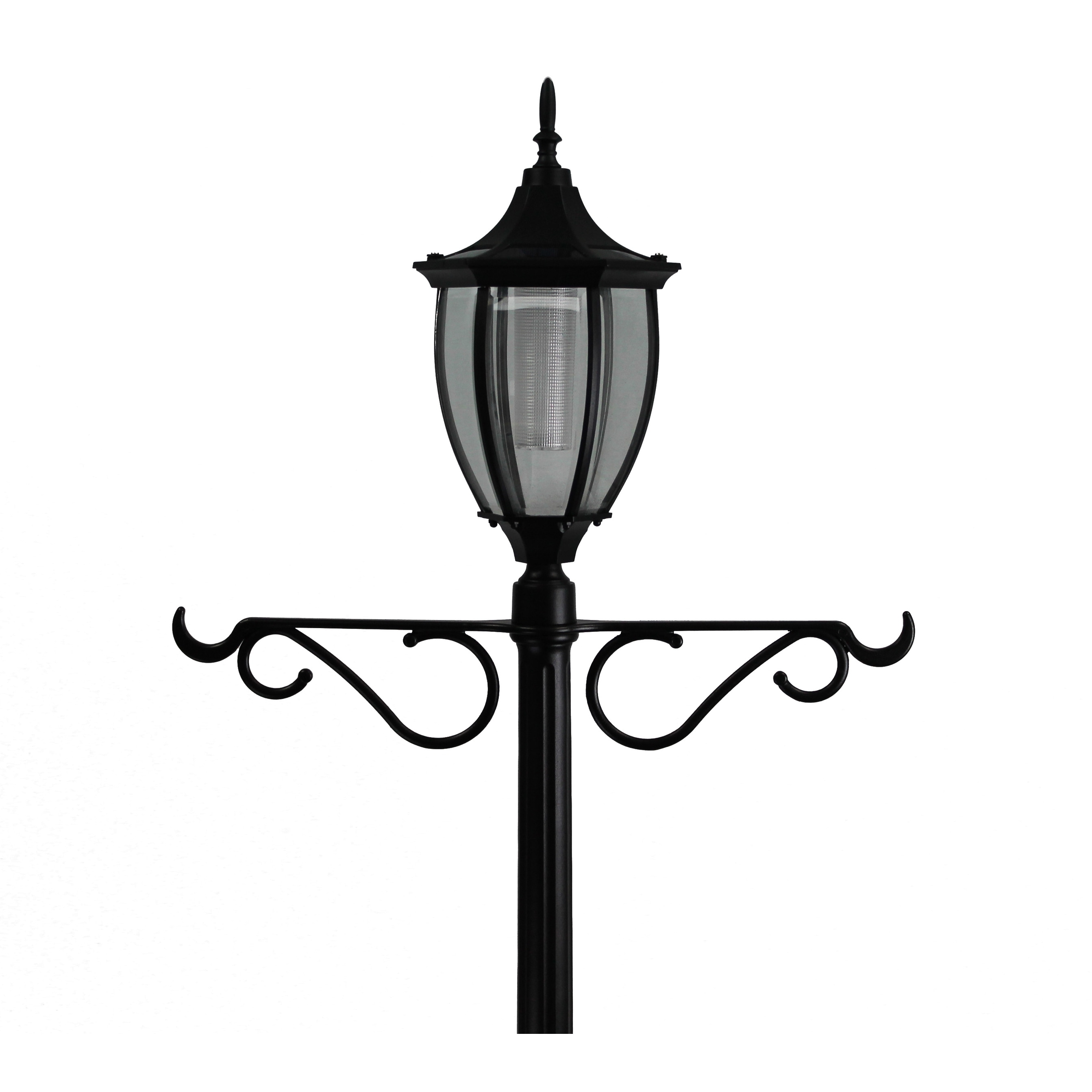 Solar Lamp Post Sun Ray Crestmont Solar Lamp Post And Planter With Hanger Black