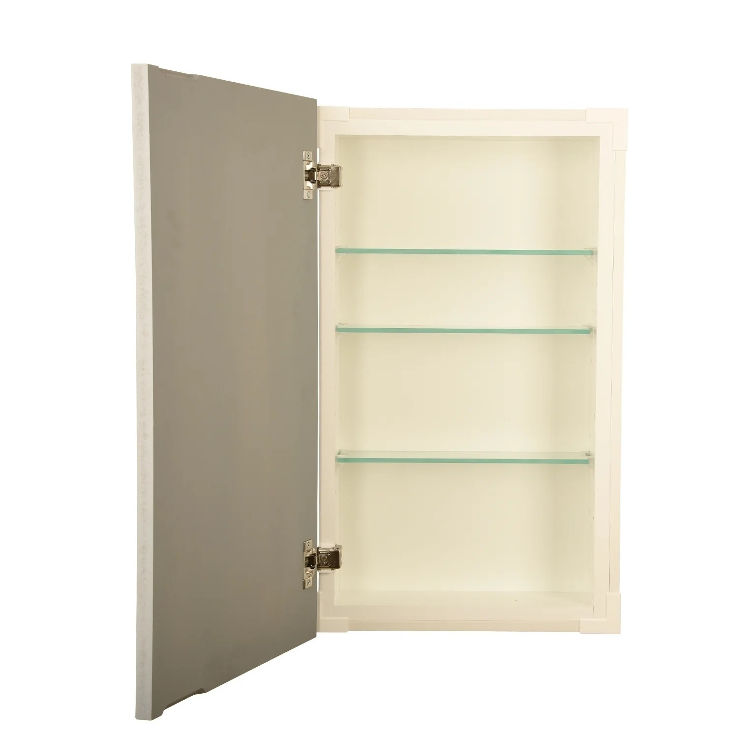 Recessed Shaving Cabinets 14x24 Recessed Disappearing Frameless Wall Cabinet 5 5