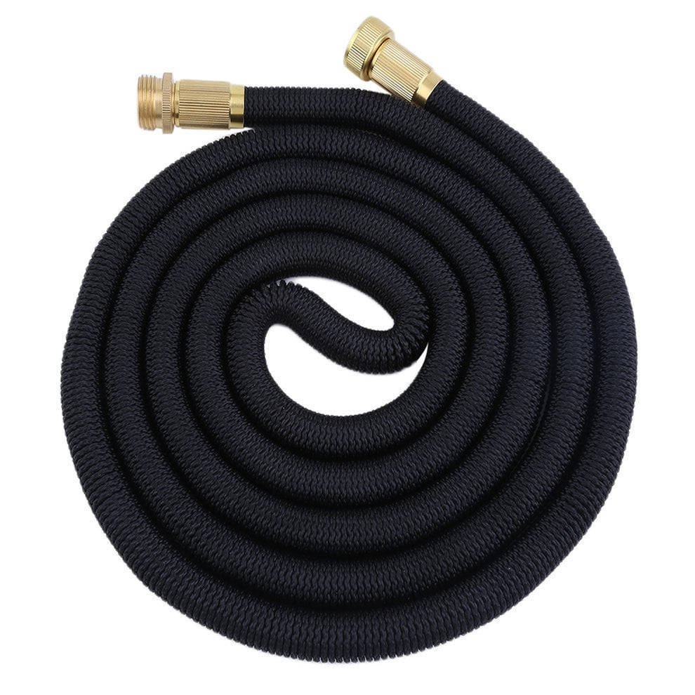 Flexible Rohre Black 25 Feet 3x Irrigation Tube Expandable Flexible Outdoor Garden Water Hose Pipe