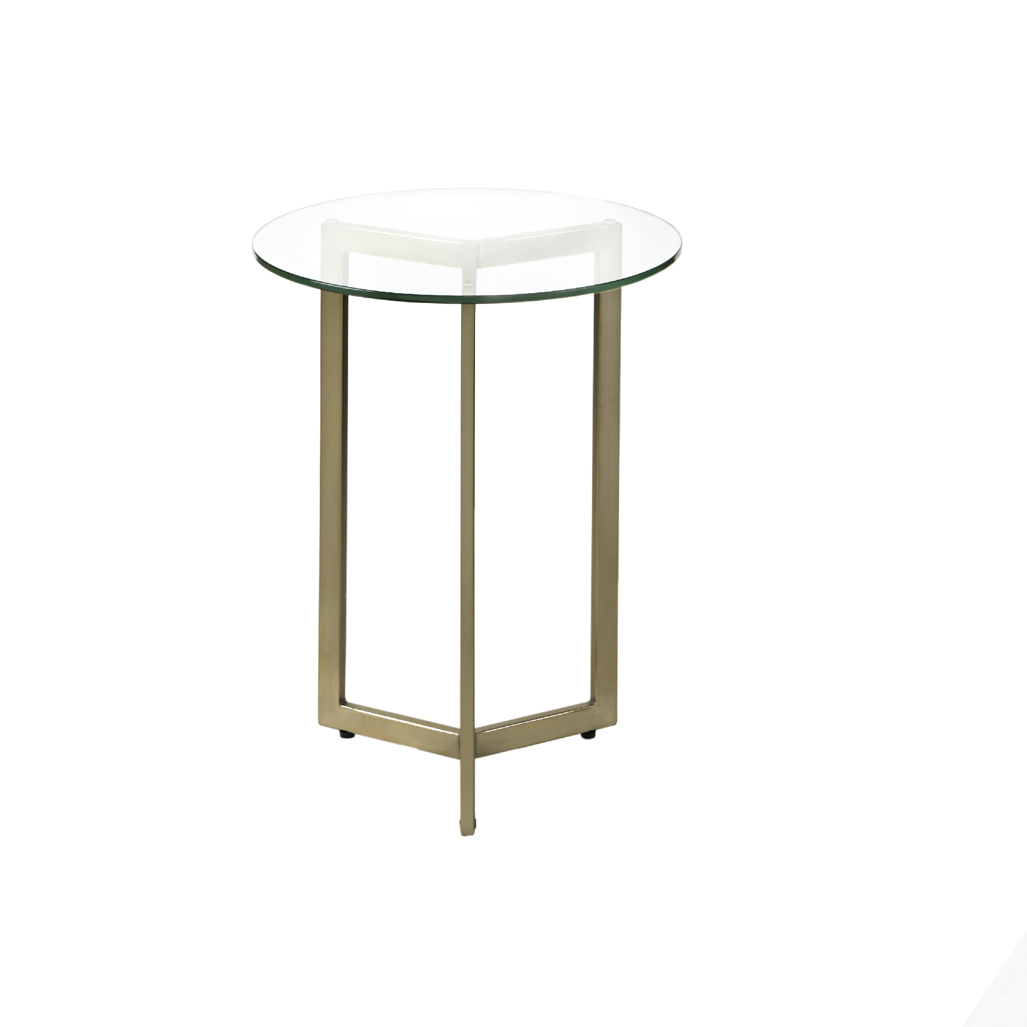 Alki Chaises Madison Park Alki Gold Round Accent End Table