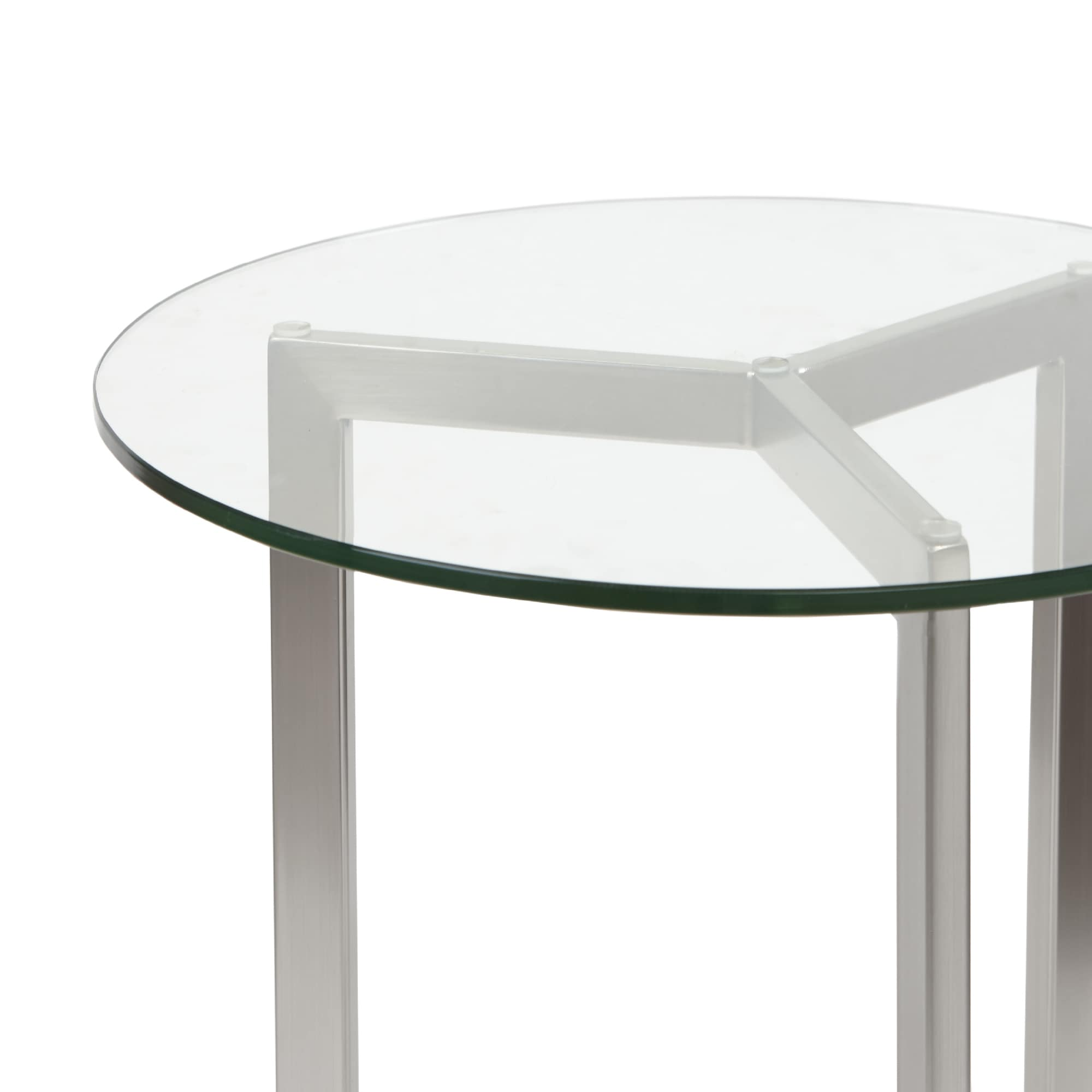 Alki Chaises Madison Park Alki Silver Round End Table