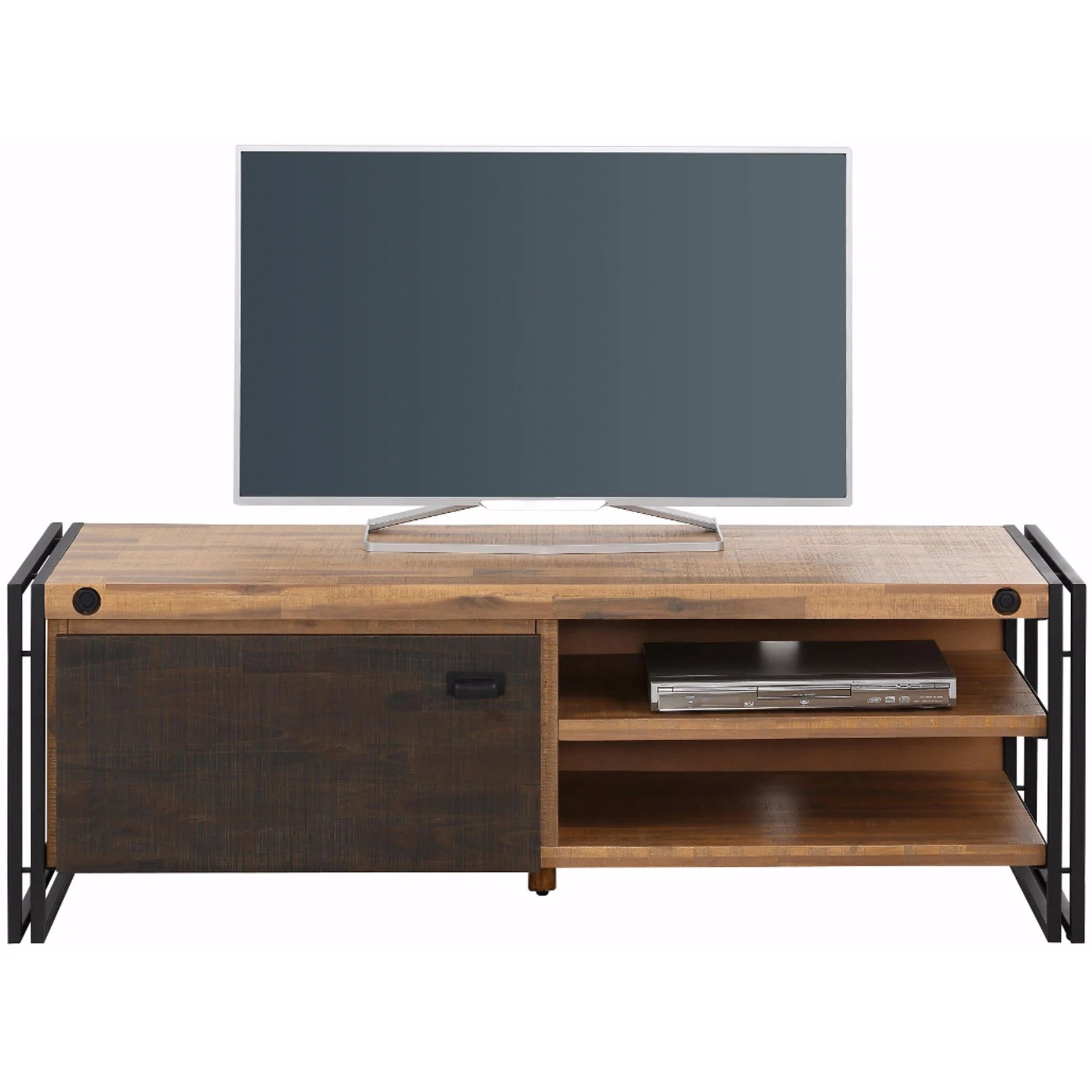 Tv Lowboard Industriedesign Katashi Acacia Wood And Metal 1 Door Tv Lowboard Entertainment Center 52 Inches