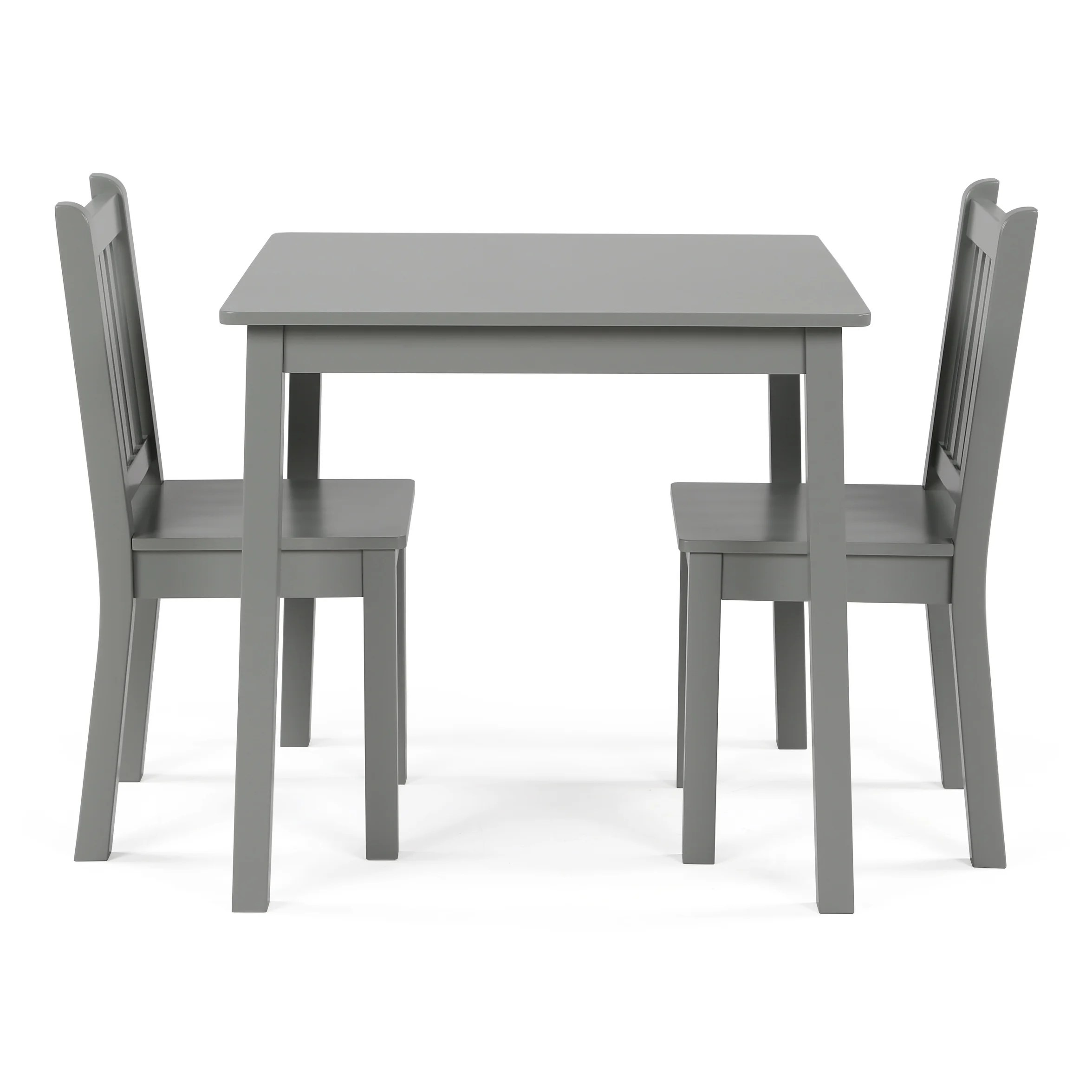 Childrens Table And Chair Set Wood Kids Table Chairs 3 Piece Set Grey