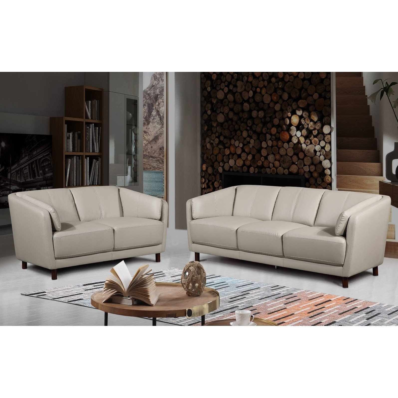 Leather And Fabric Sofa Sets | Fabric Leather Mix Sectional Sofa Los ...