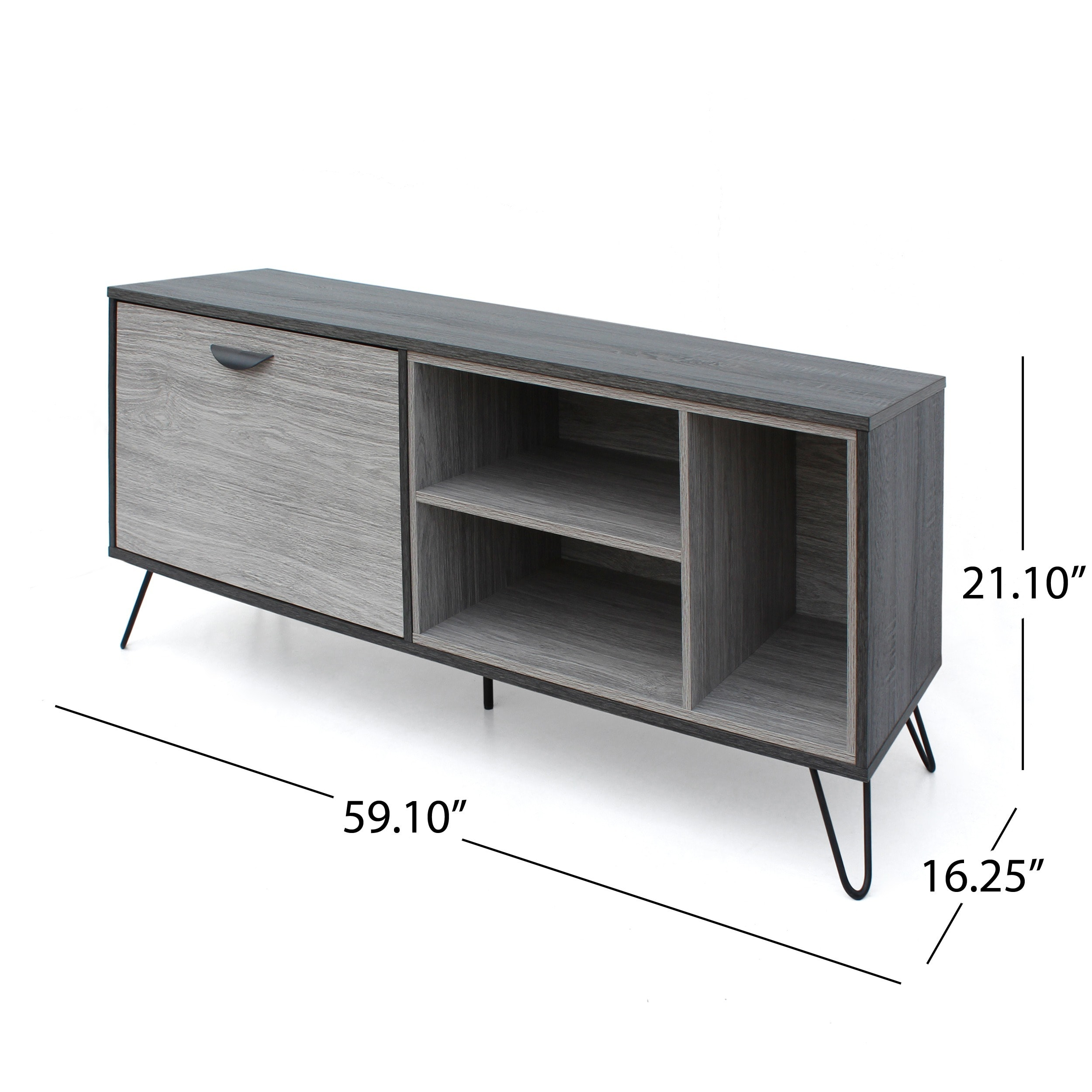 Tv Sideboard Modern Dorrin Mid Century Modern Faux Wood Tv Stand By Christopher Knight Home
