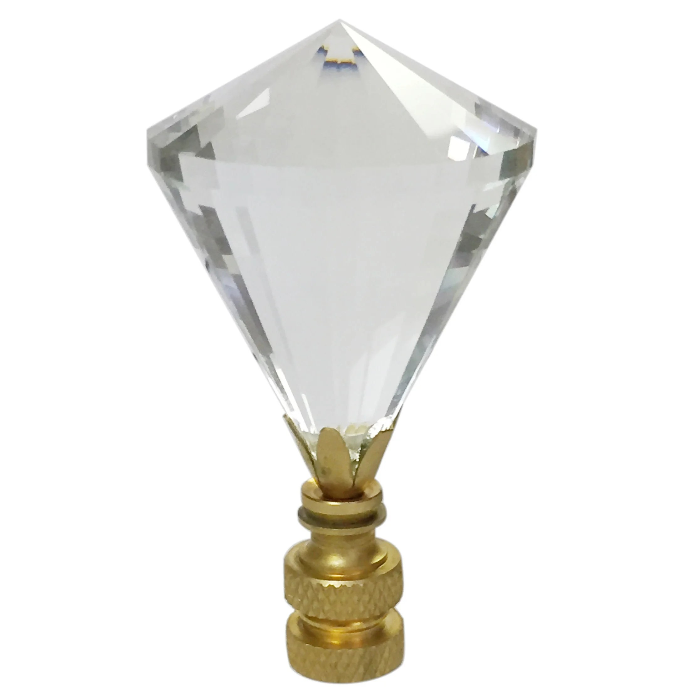 Crystal Lamp Royal Designs Extra Large Diamond Gem Cut Clear K9 Crystal Lamp Finial For Lamp Shade With Polished