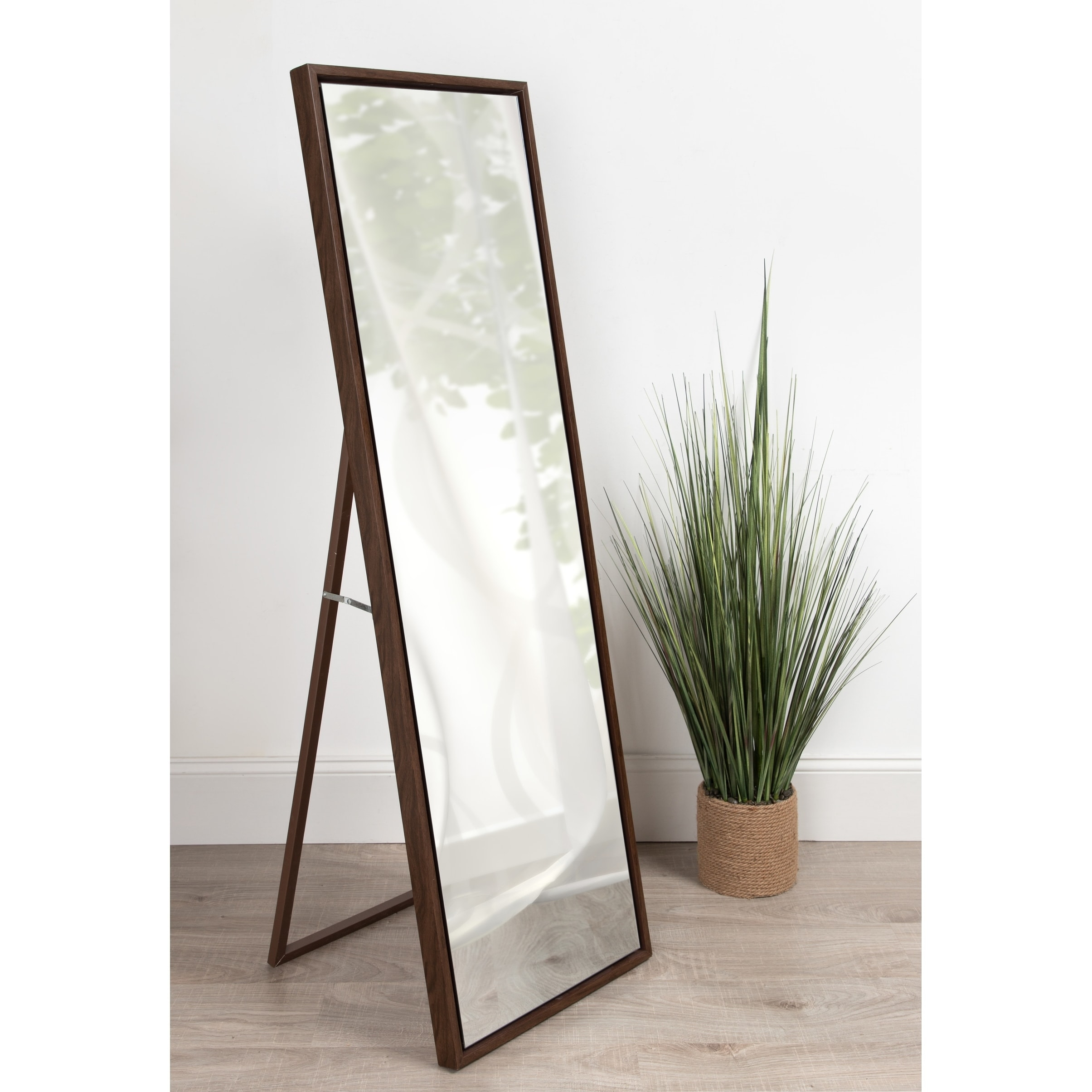 Standing Mirror Kate And Laurel Evans Wood Framed Free Standing Mirror With Easel 18x58