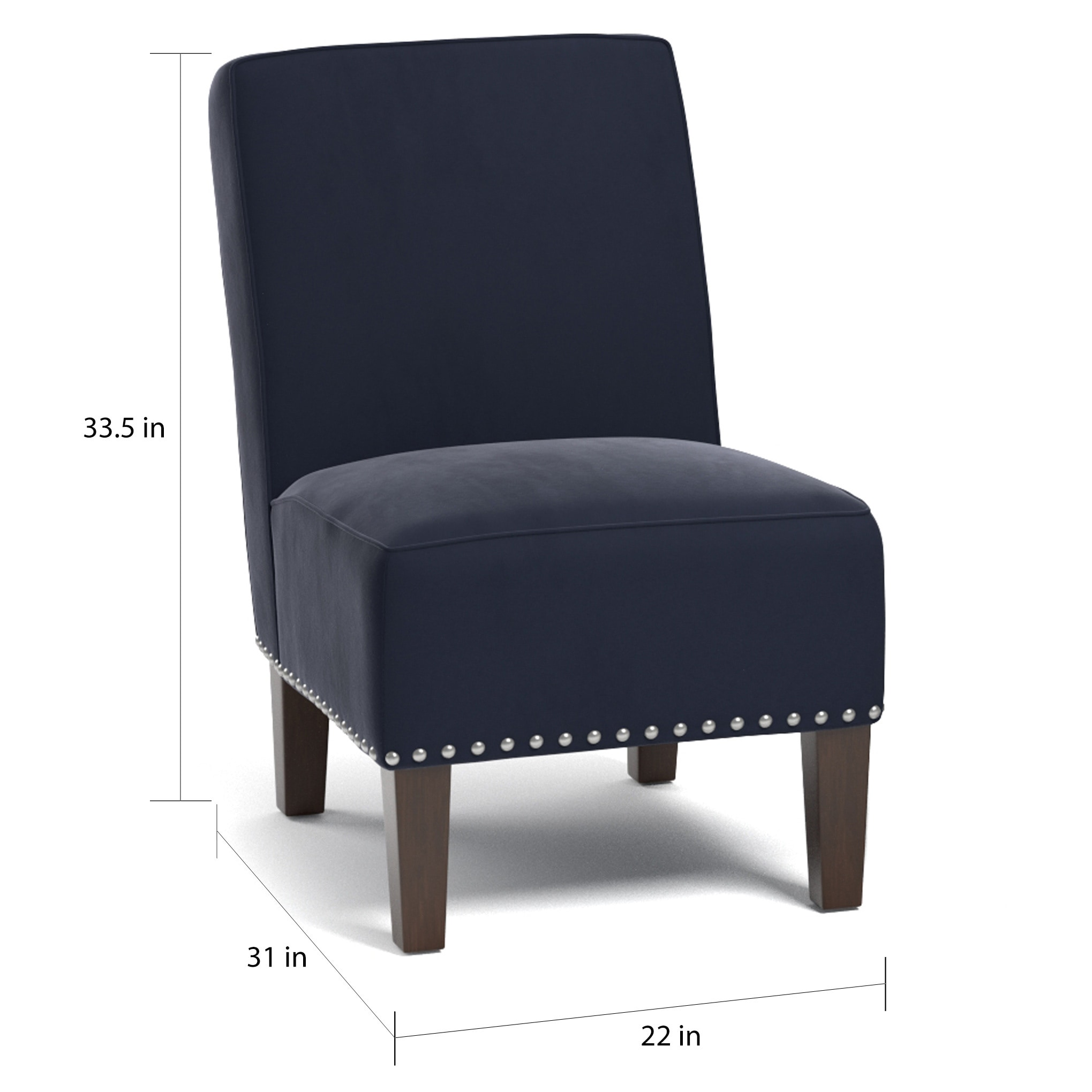 Seats And Sofas Genk Copper Grove Genk Navy Blue Velvet Set Of 2 Armless Chairs