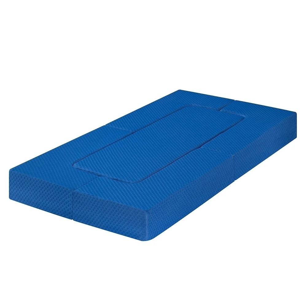 Foldable Mattresses Sleeplanner 8 Inch Memory Foam Folding Mattress Guest Bed Floor Sofa Blue