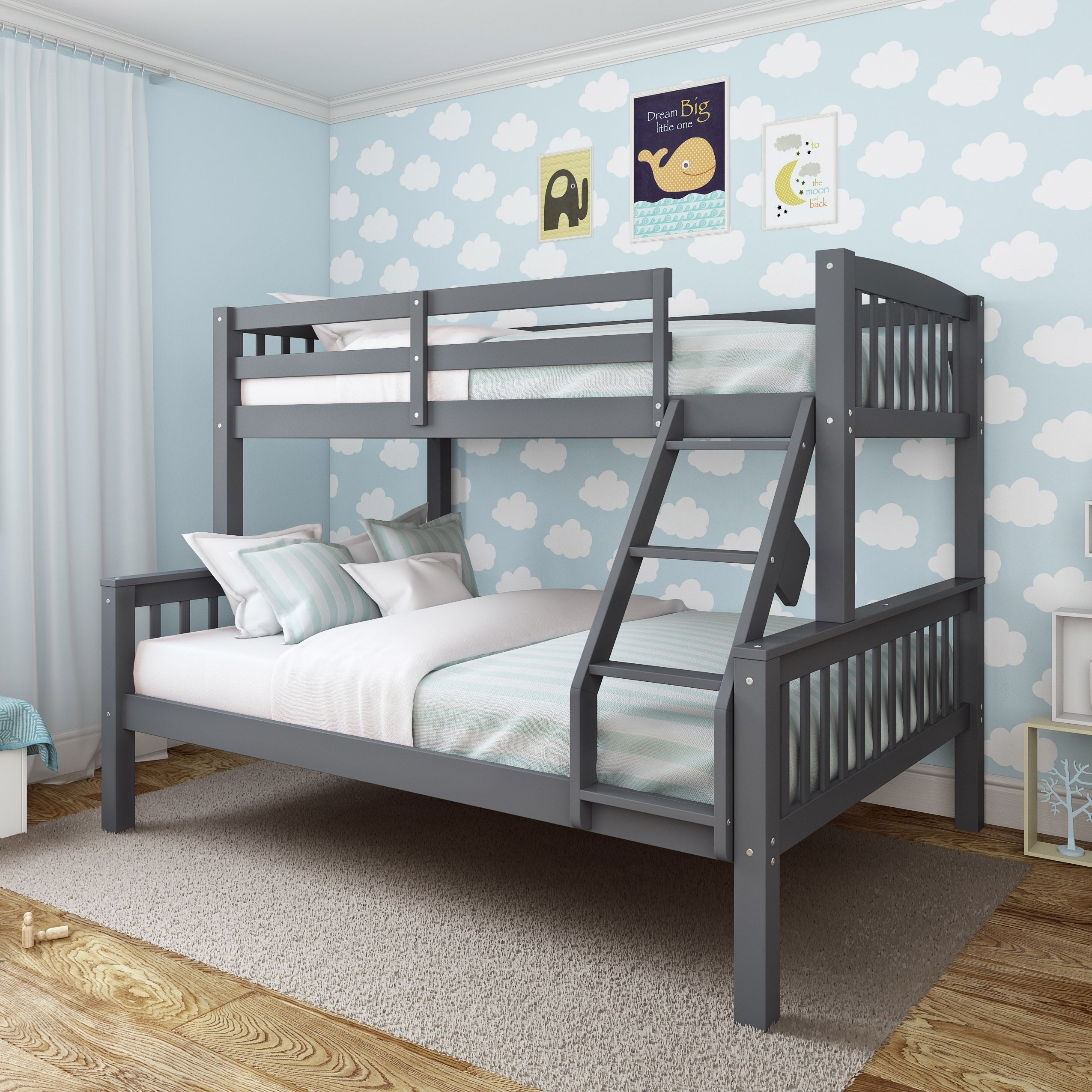 Full Double Bed Taylor Olive Christian Twin Single Over Full Double Bunk Bed