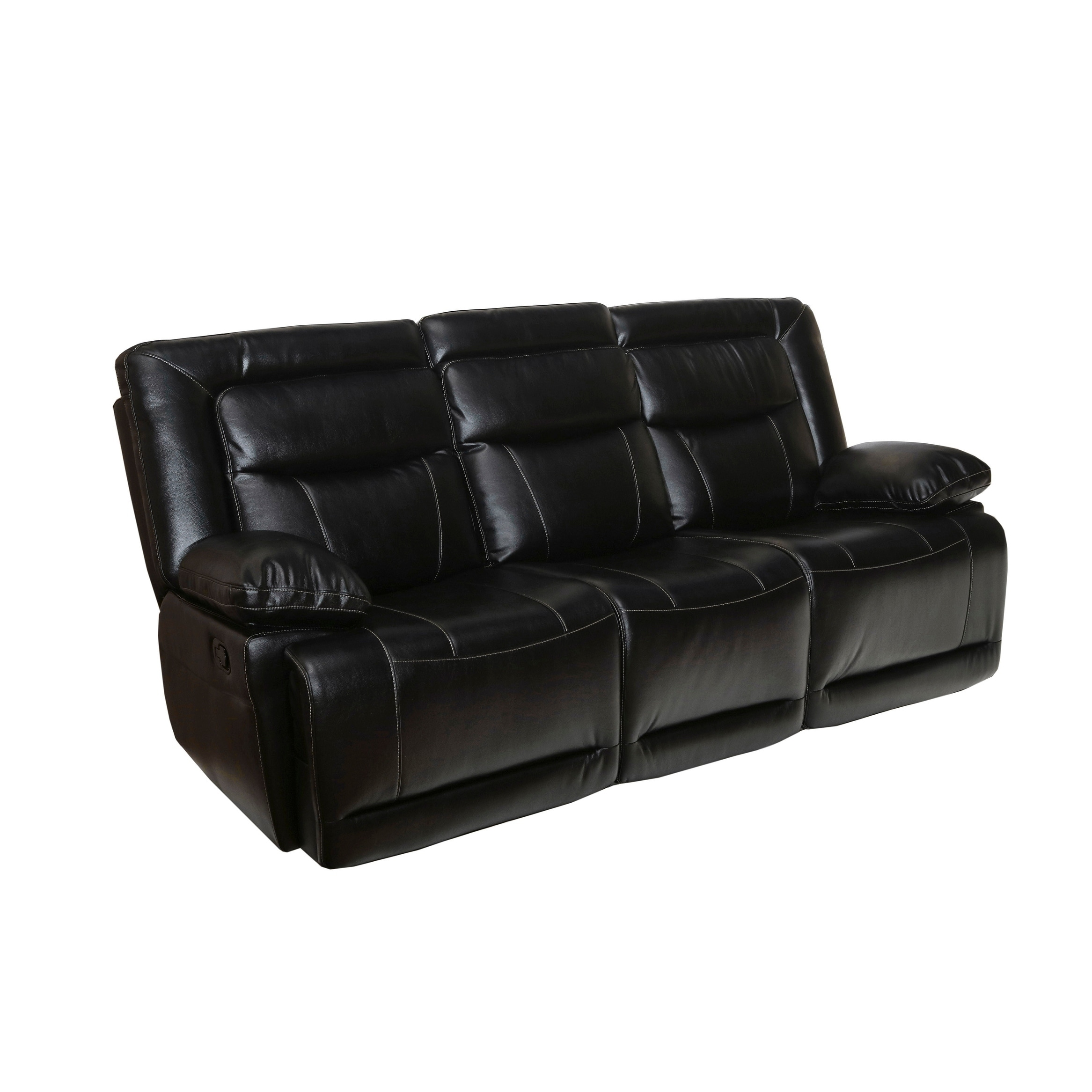 Recliner Pillow Torino Black Pillow Arms Dual Recliner Sofa