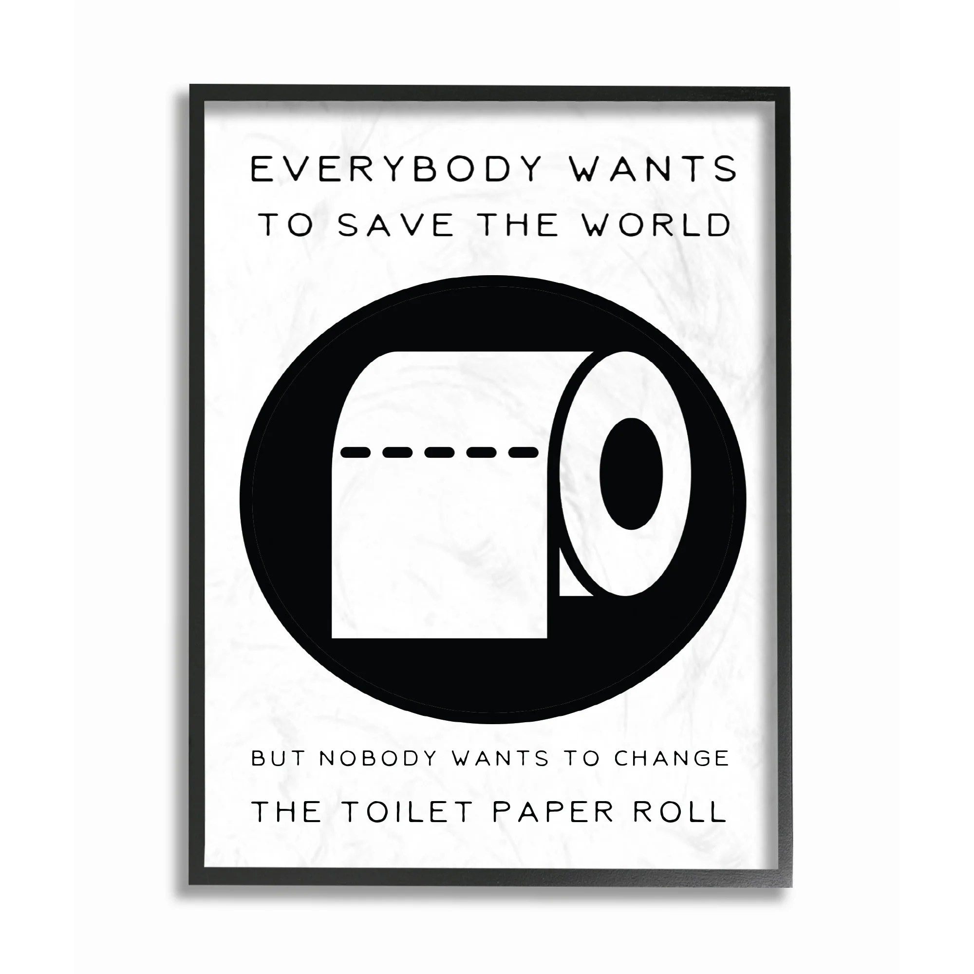 Toilet Wall Art Stupell Industries Save The World Change The Toilet Paper Framed Art
