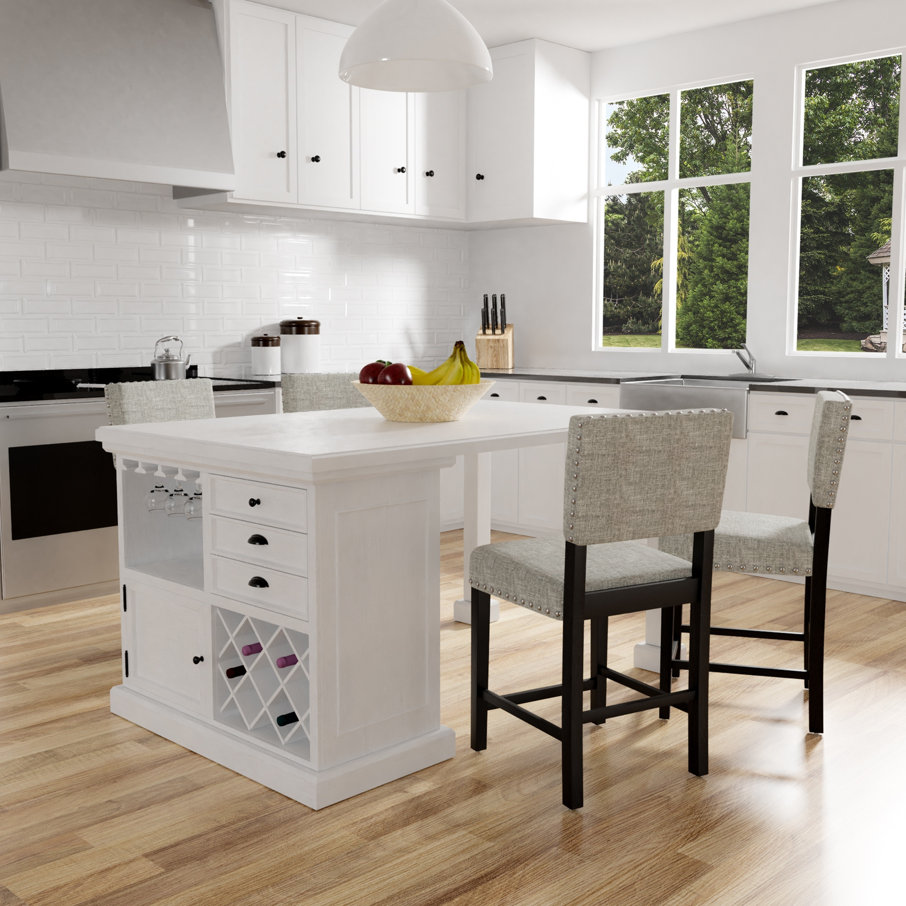 Kitchen Island Clearance Sale Tia Modern Antique White Counter Height Kitchen Island Table By Foa