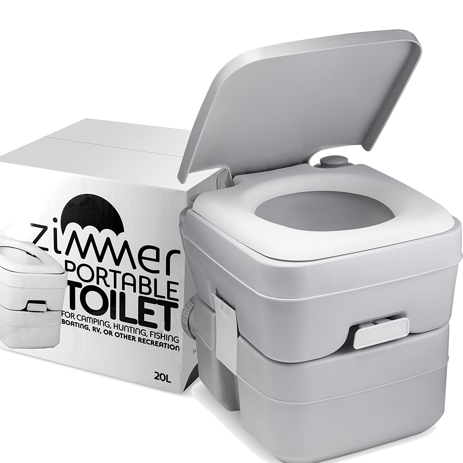 Camping Toilet Comfort Portable Toilet 5 Gallon Capacity Rv Toilet With Detachable Tanks Easy To Use For Camping Toilet Or Travel