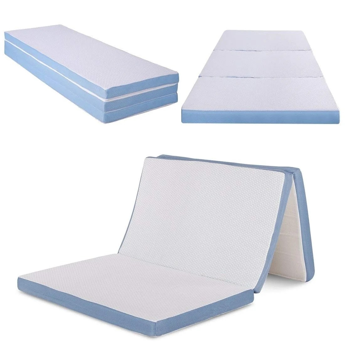 Foldable Foam Mattress Cr Sleep 3 Inch Twin Size Tri Folding Memory Foam Mattress With Cover