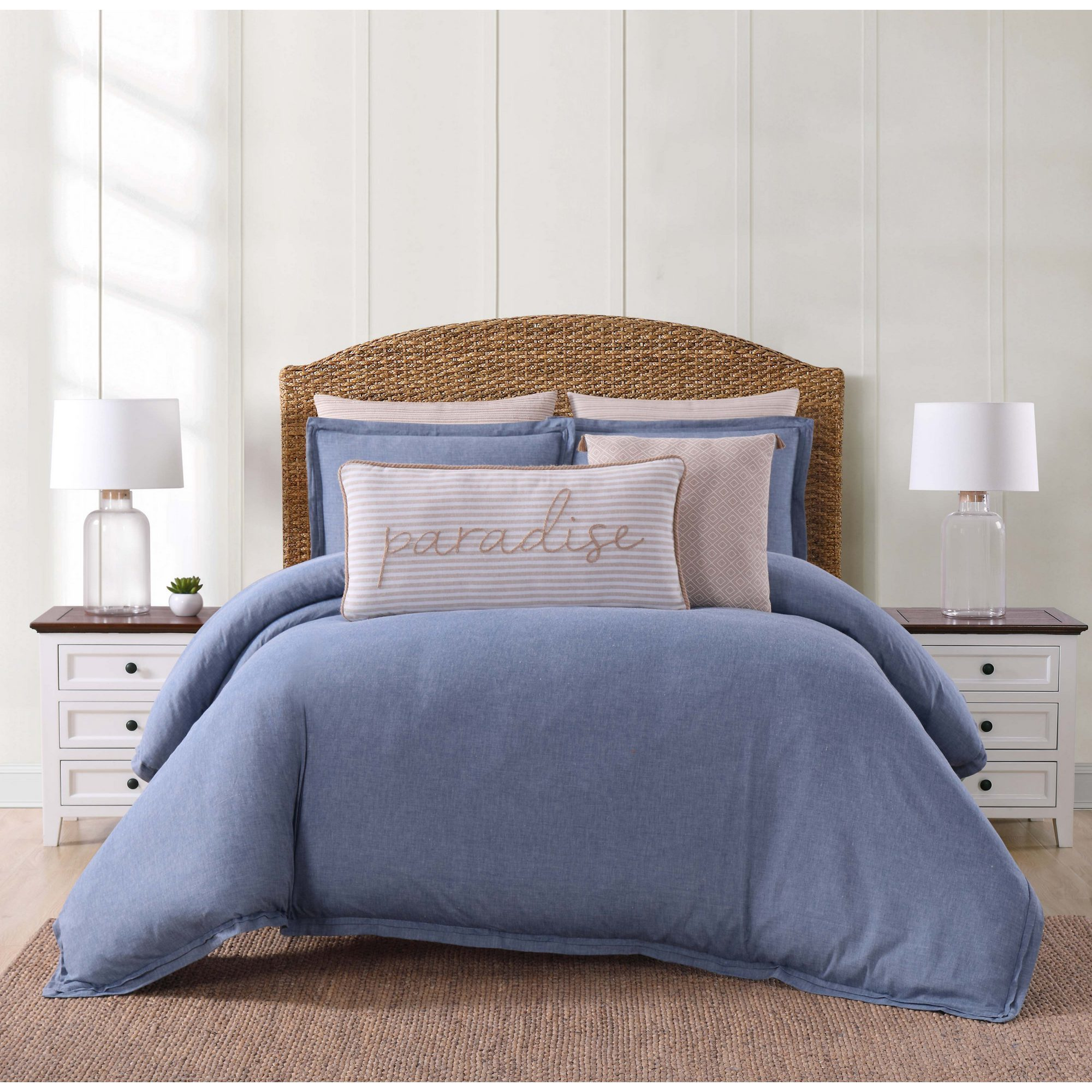 Duvet And Comforter Sets Oceanfront Resort Chambray Coast 3 Piece Comforter Set