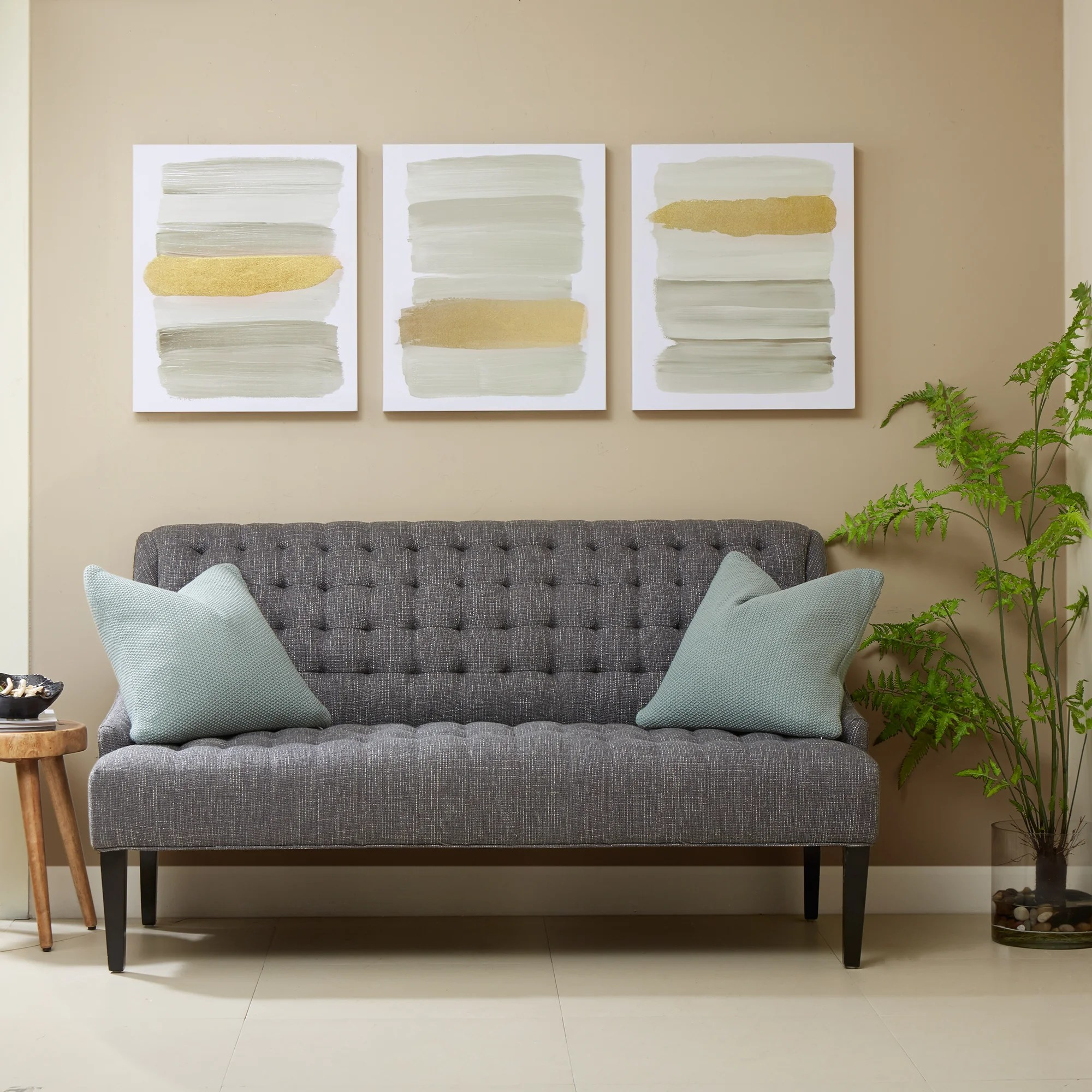 Habitat Sofa Carson Carrington Urban Habitat Traveling Road 3 Piece Printed Canvas With Gold Foil Set