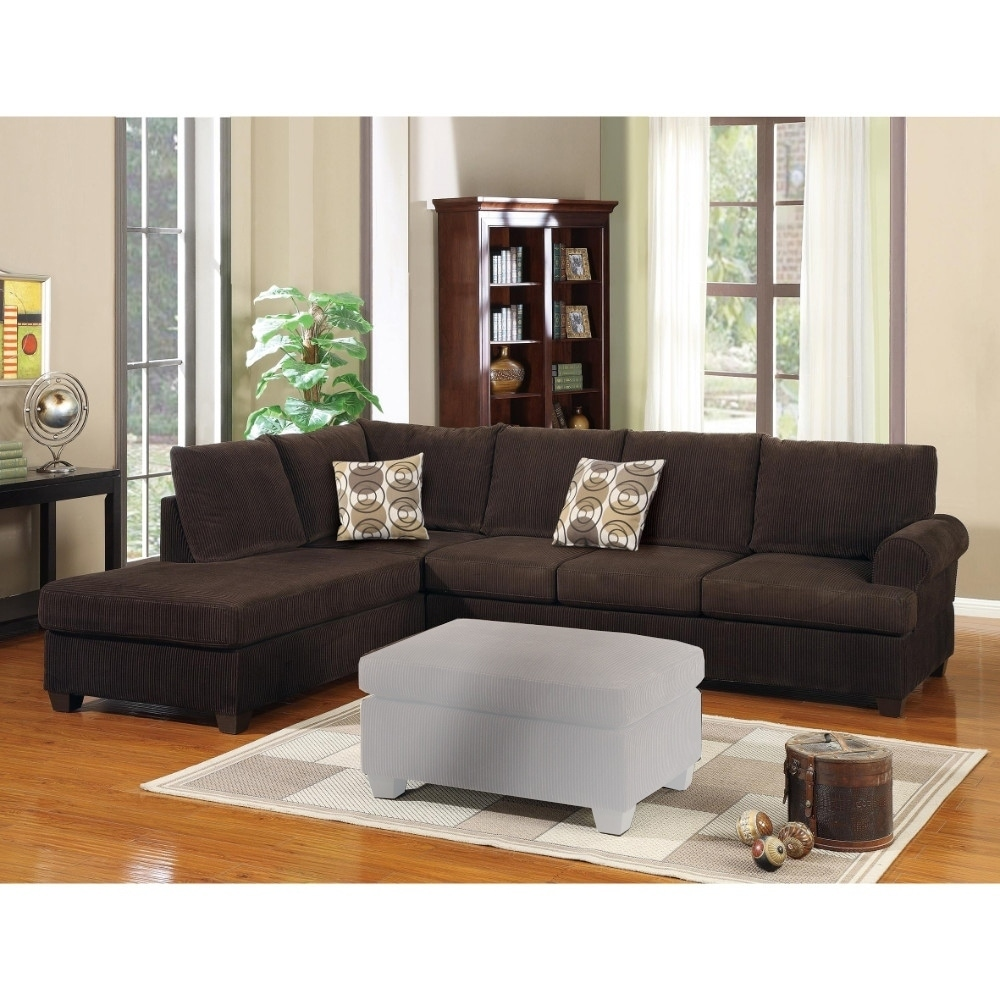 Chocolate Corduroy Sofa Luxurious And Plush 2 Piece Corduroy Sectional Sofa Chocolate