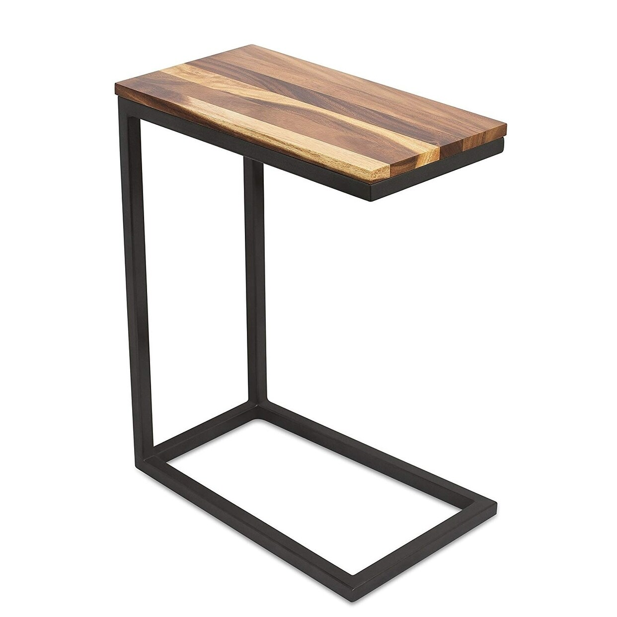 Birdrock Home Acacia Wood Tv Tray Side Table Natural Wood End Table Overstock 20740294