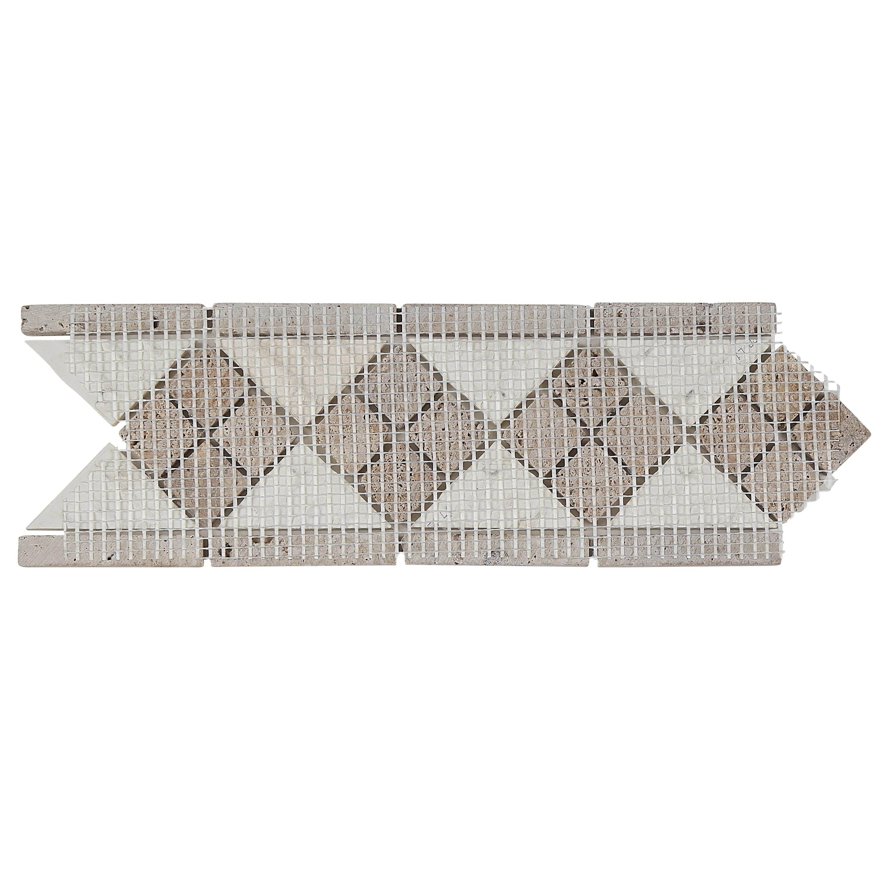 Tile Listello Complimentary Stone 4x12 Inch Tumbled Listello Accent Tile In Almond And Noce 4x12
