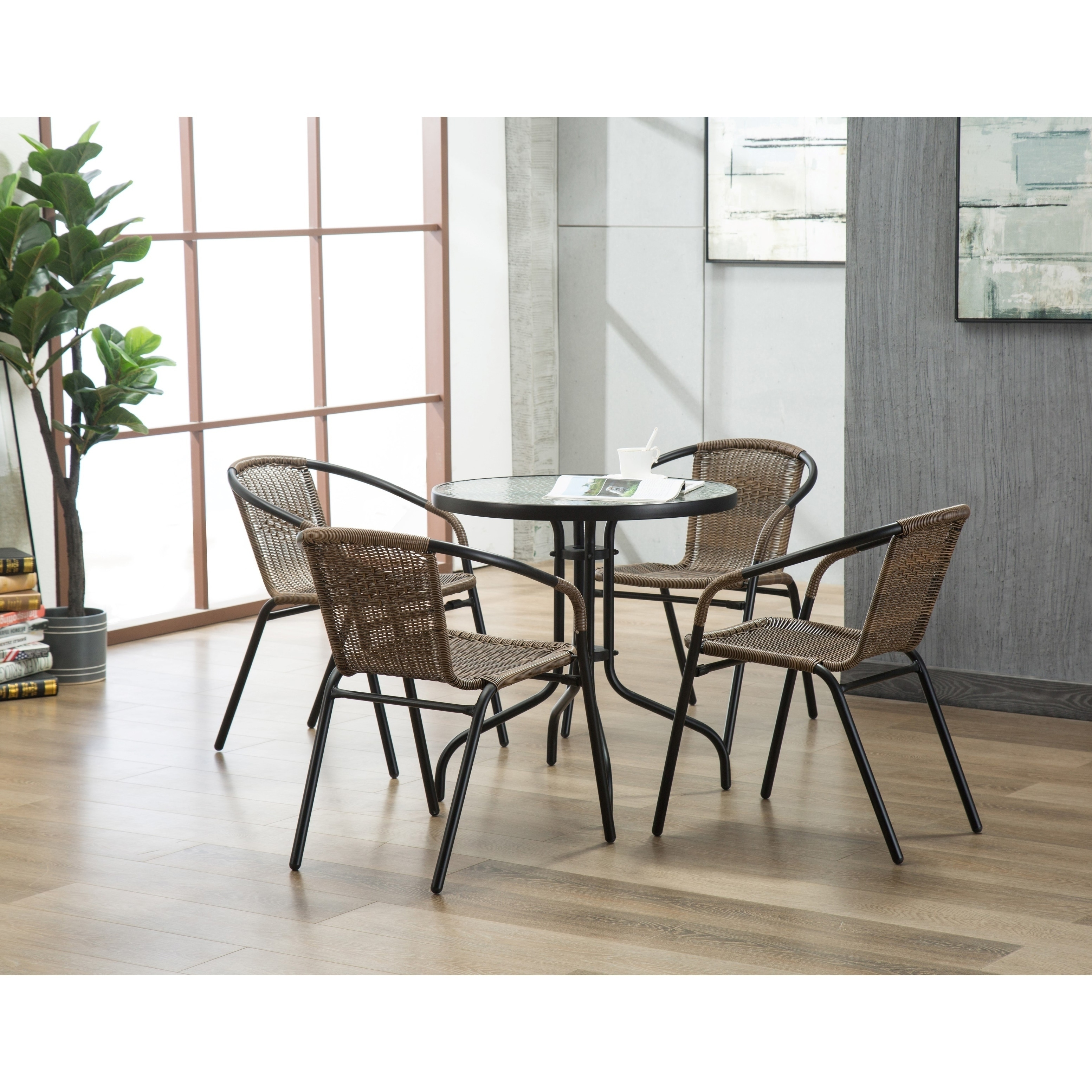Rattan Chairs The Curated Nomad Clopin Indoor Outdoor Rattan Chairs Set Of 4