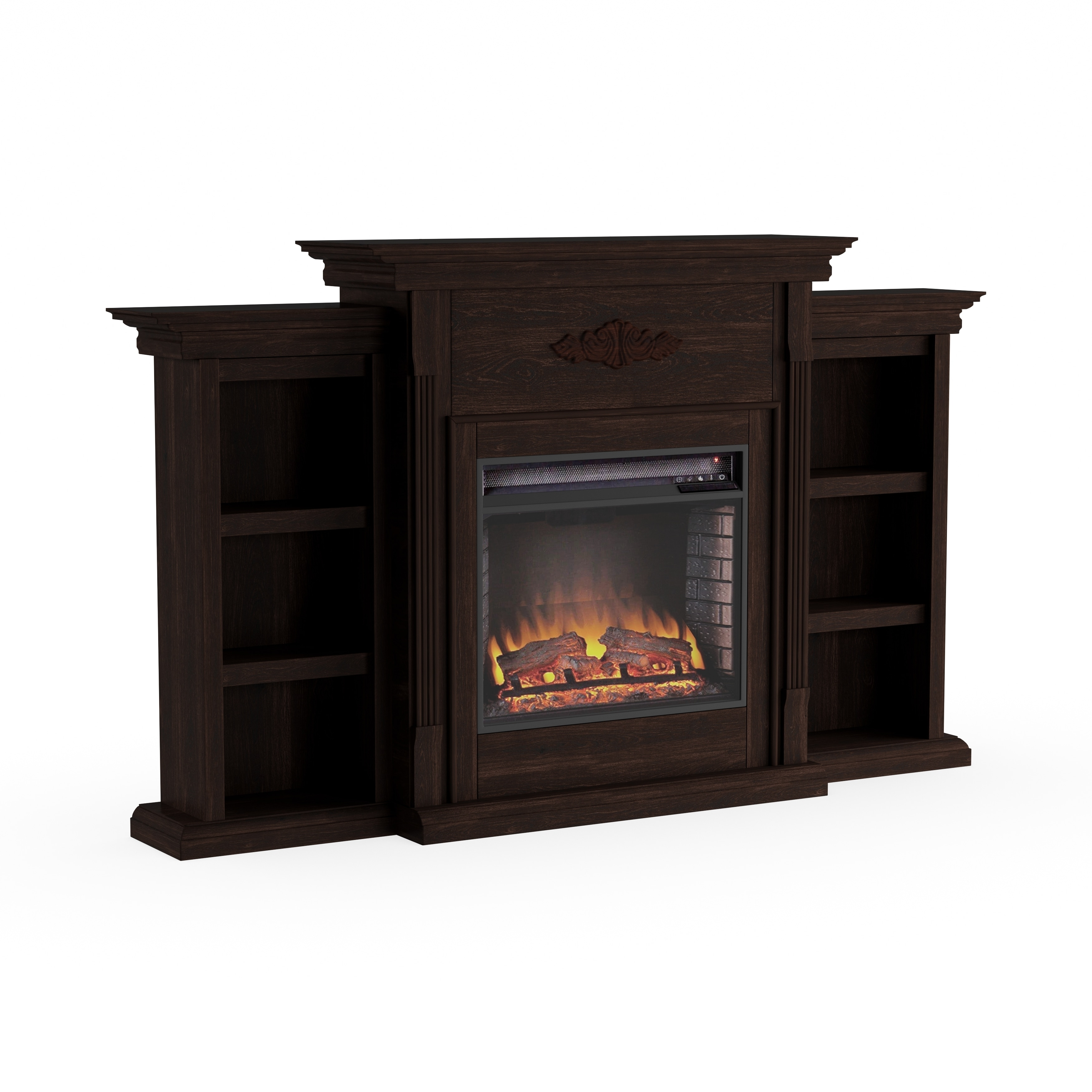 Space Heaters Fireplace Gracewood Hollow Forbes 70 Inch Espresso Electric Fireplace