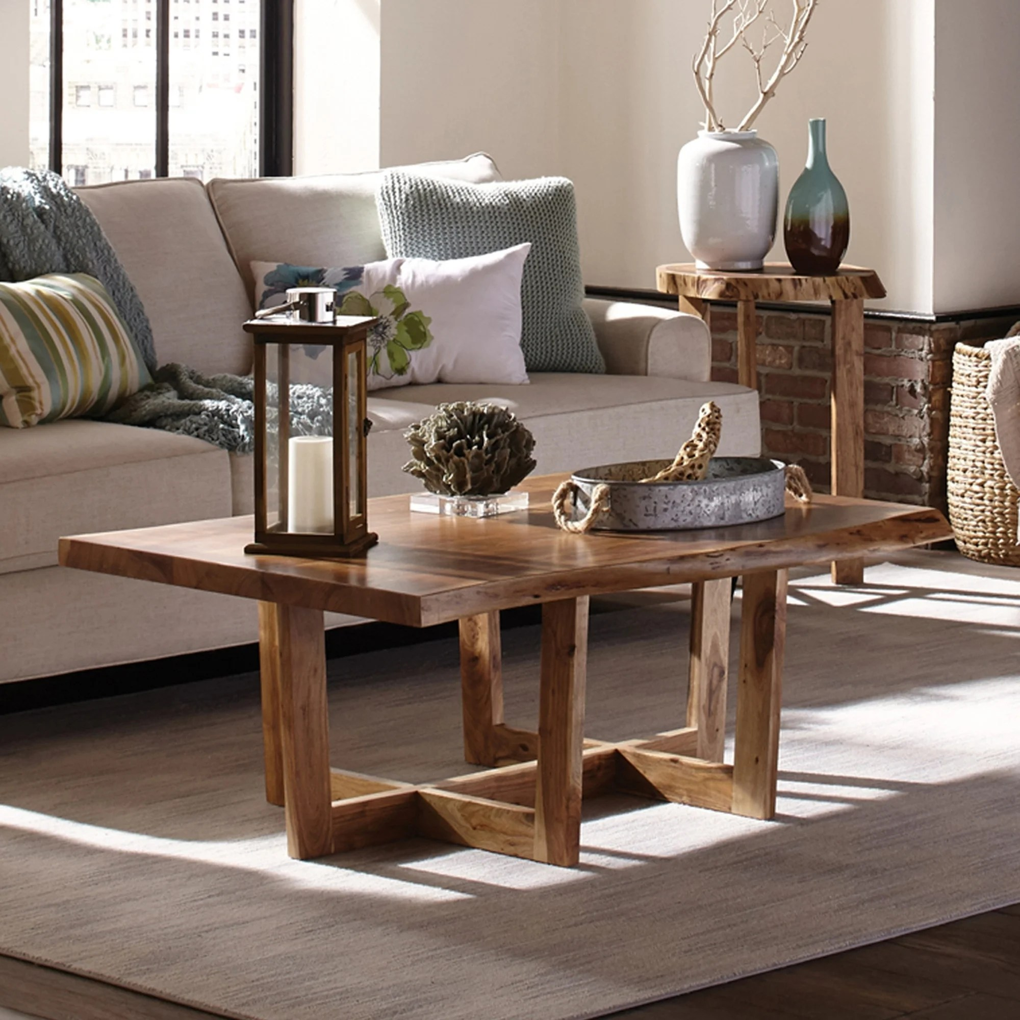 Urban Sofa Live Edge Berkshire Natural Live Edge Large Coffee Table Natural
