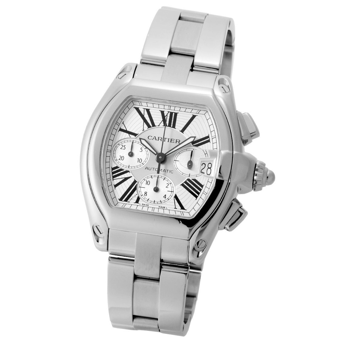 Cartier Watches Cartier Men S W62019x6 Roadster Chronograph Automatic Stainless Steel Watch