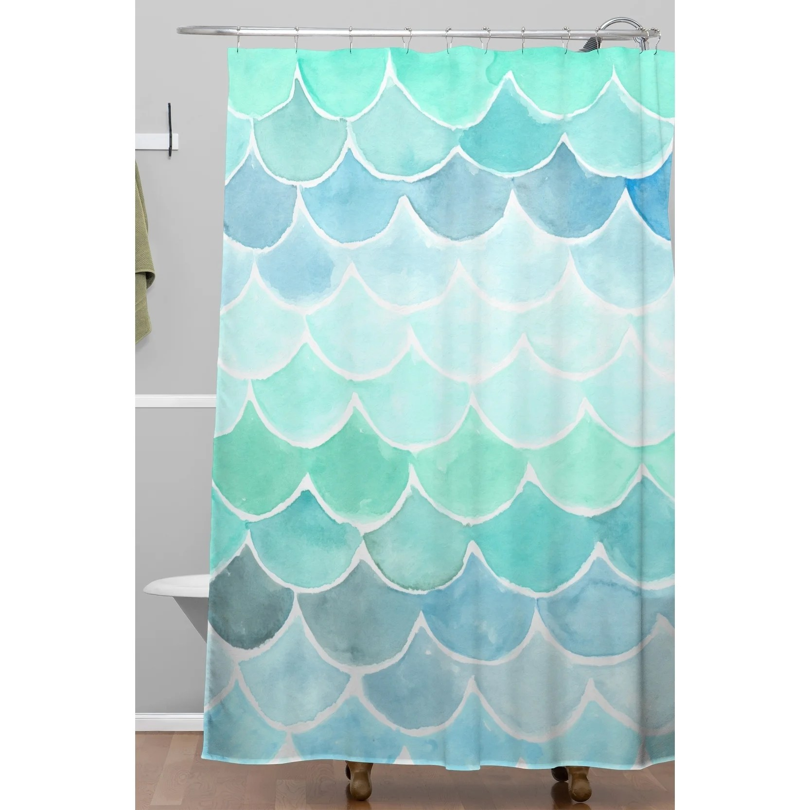 Mermaid Scale Shower Curtain Wonder Forest Mermaid Scales Shower Curtain