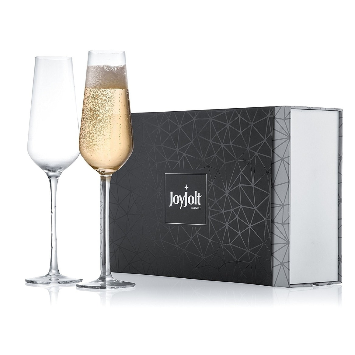 High End Crystal Wine Glasses Joyjolt Meille High End Non Leaded Crystal Champagne Glasses Set Of 2 8 2 Ounce Flute Glasses