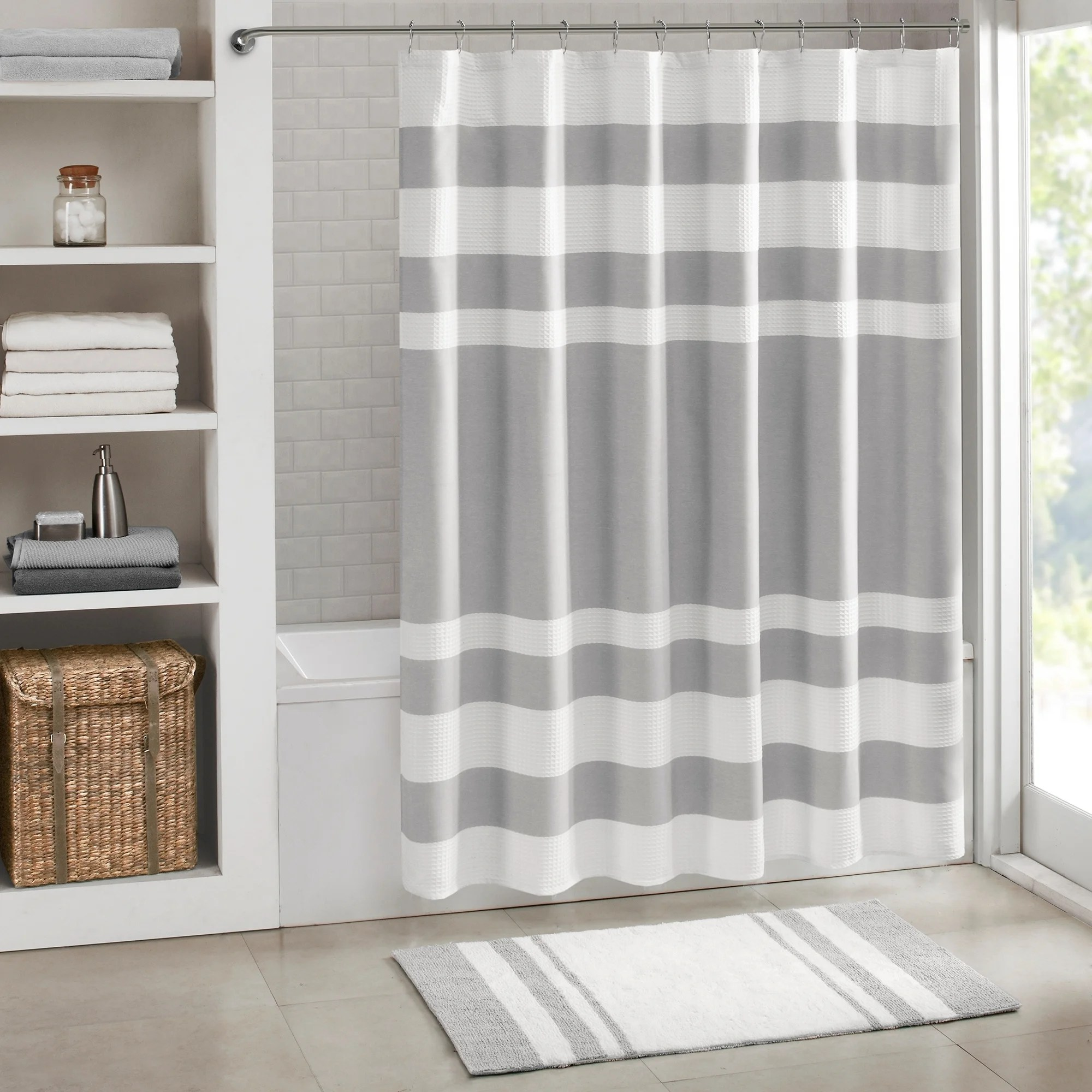 108 Inch Wide Shower Curtain Porch Den Niantic Shower Curtain With 3m Treatment