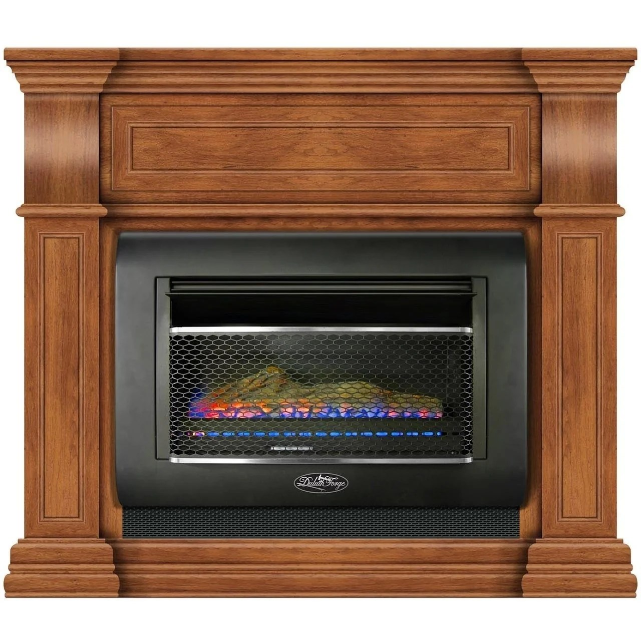 Wall Fireplace Gas Duluth Forge Mini Hearth Ventless Gas Wall Fireplace 26 000 Btu T Stat Control Toasted Almond Finish Model Df300l M Ta