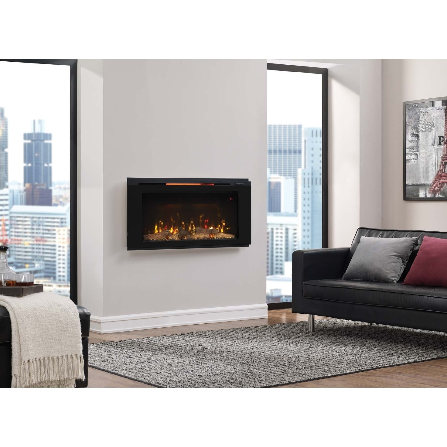 Living Room Electric Fireplace Helen 36