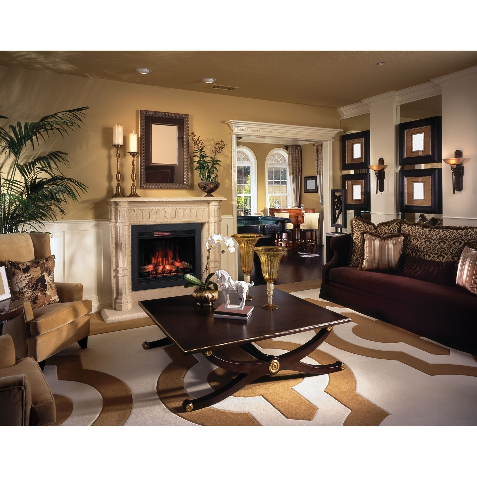 Living Room Electric Fireplace Classicflame 42