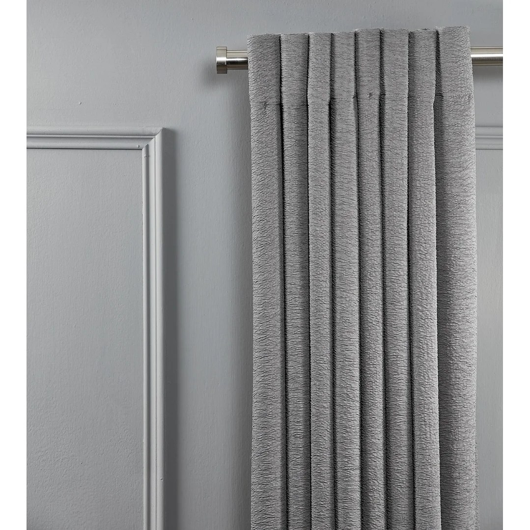Curtain For Double Window Linen Avenue End Cap Double Window Curtain Rod Set 28 To 48 Inch Satin Nickle