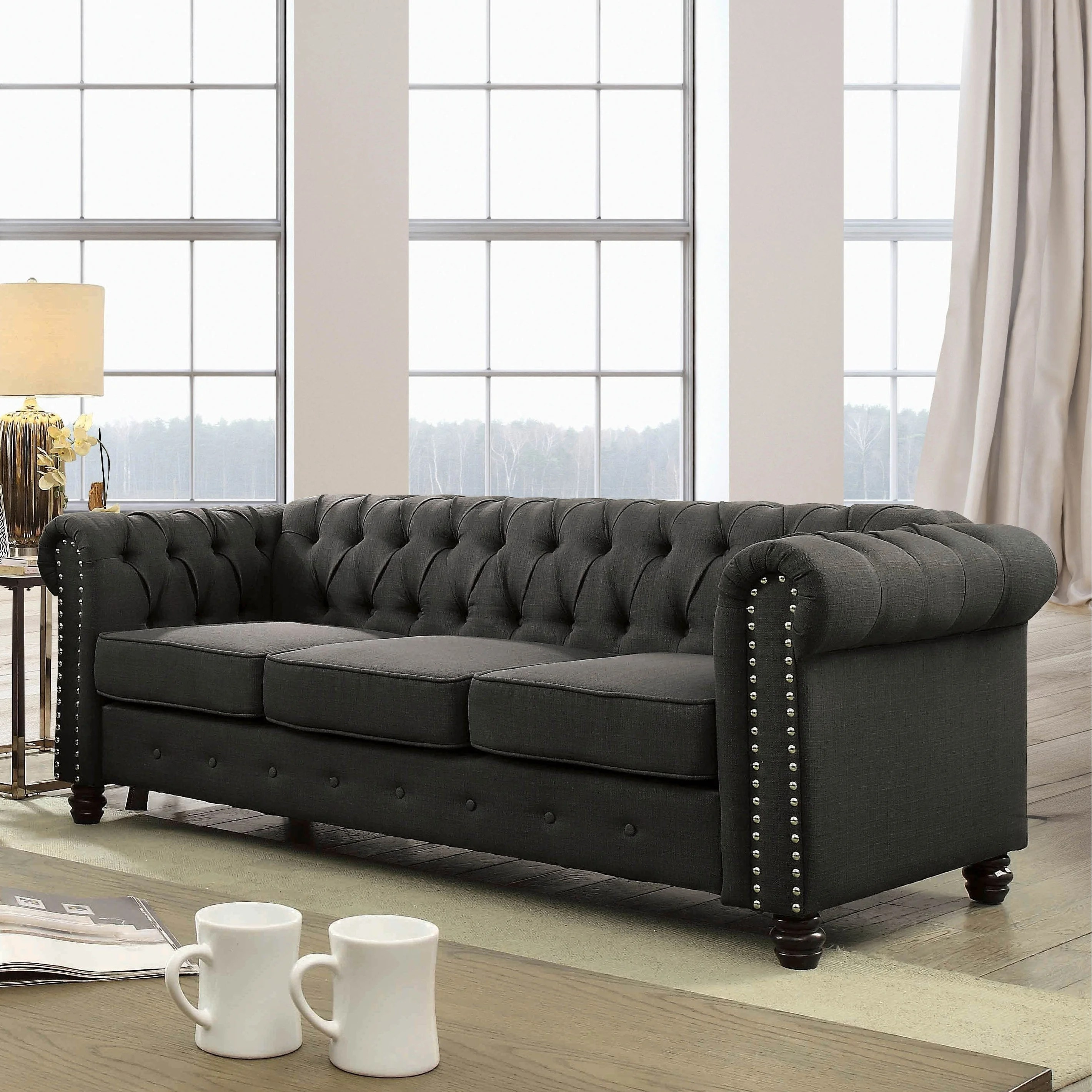 Chesterfield Sofa Japan Martine Traditional Tufted Chesterfield Sofa By Foa