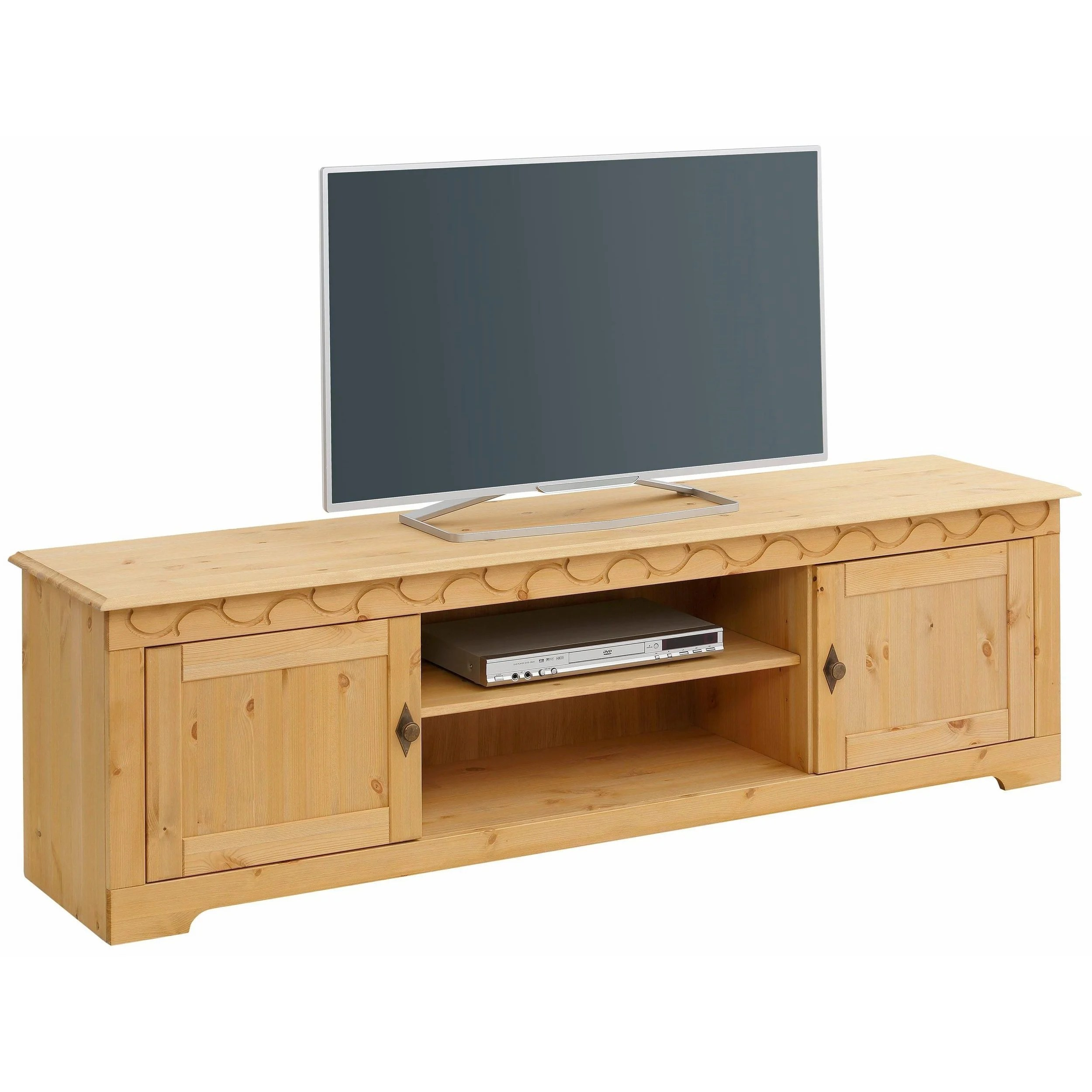 Tv Lowboard Industriedesign Lando 69 Inch Tv Lowboard Solid Pine Natural
