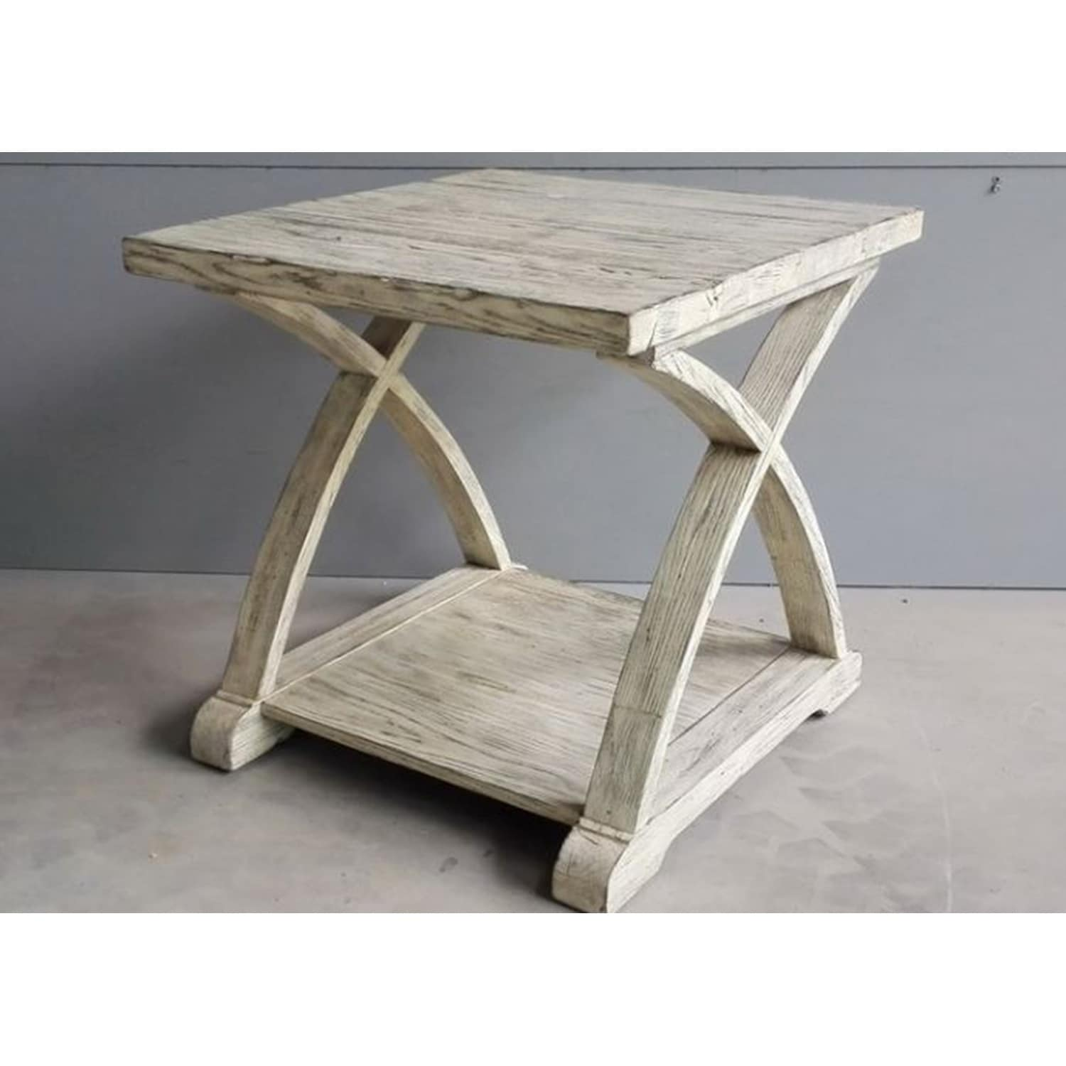 Building An End Table Twin Oaks Rustic White End Table