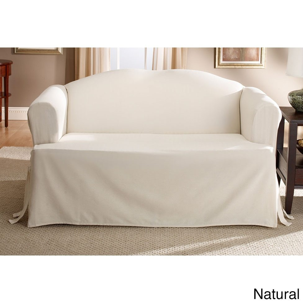 Sofa Cushions That Don't Go Flat Sure Fit Cotton Classic T Cushion Sofa Slipcover