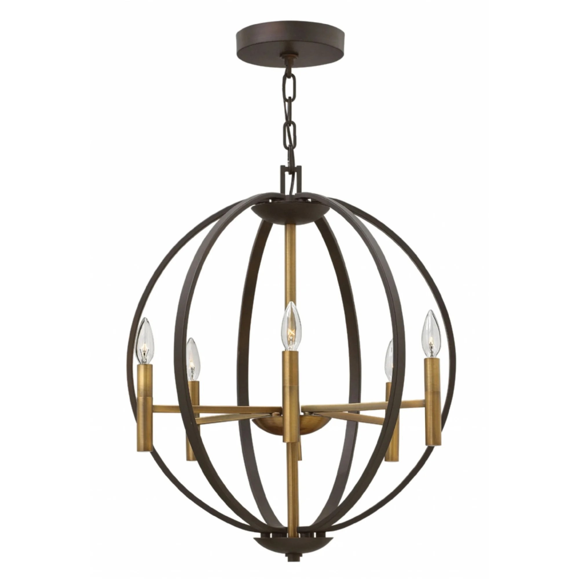Spanish Chandelier Hinkley Euclid 6 Light Chandelier In Spanish Bronze