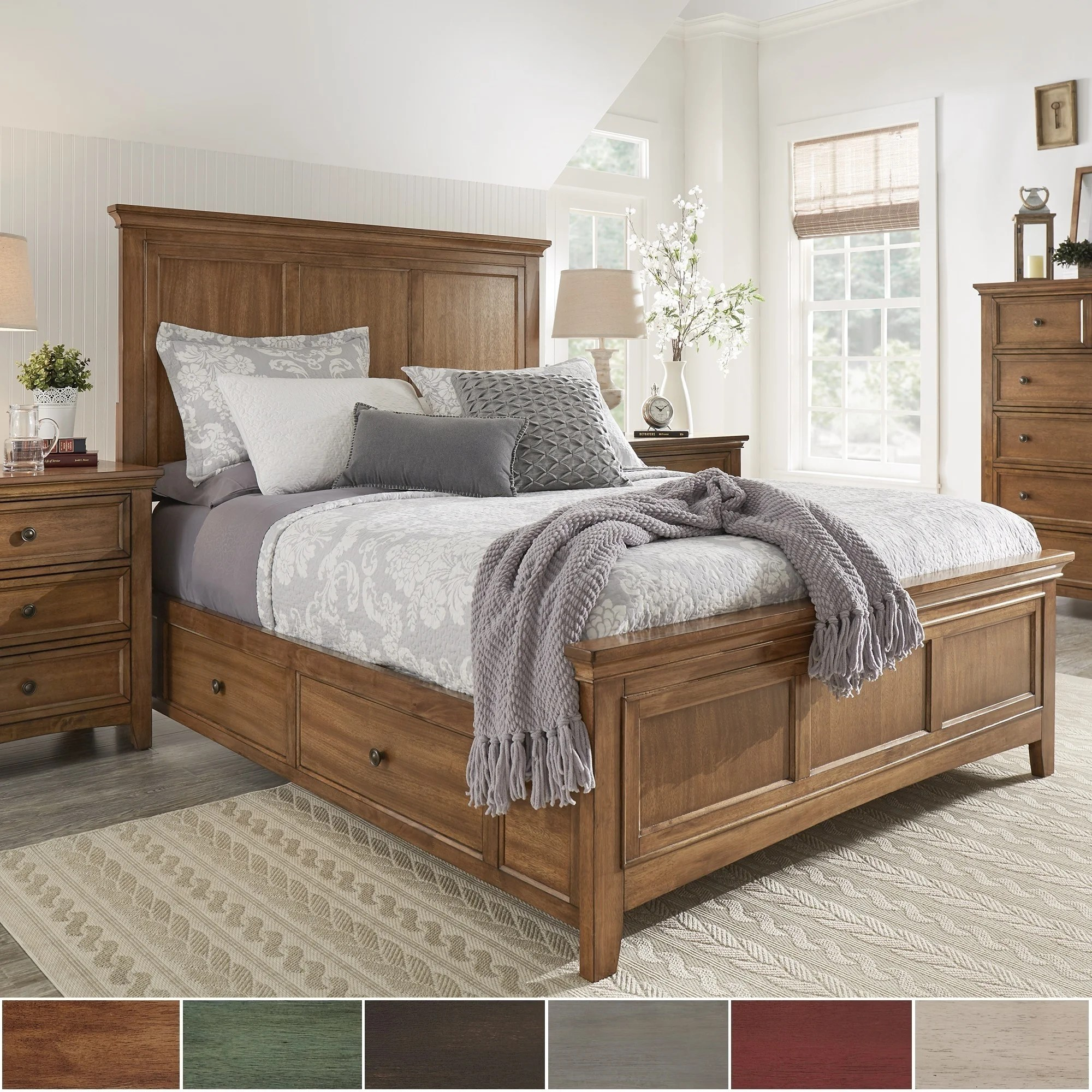 Bedding Storage Ediline King Size Wood Panel Platform Storage Bed By Inspire Q Classic