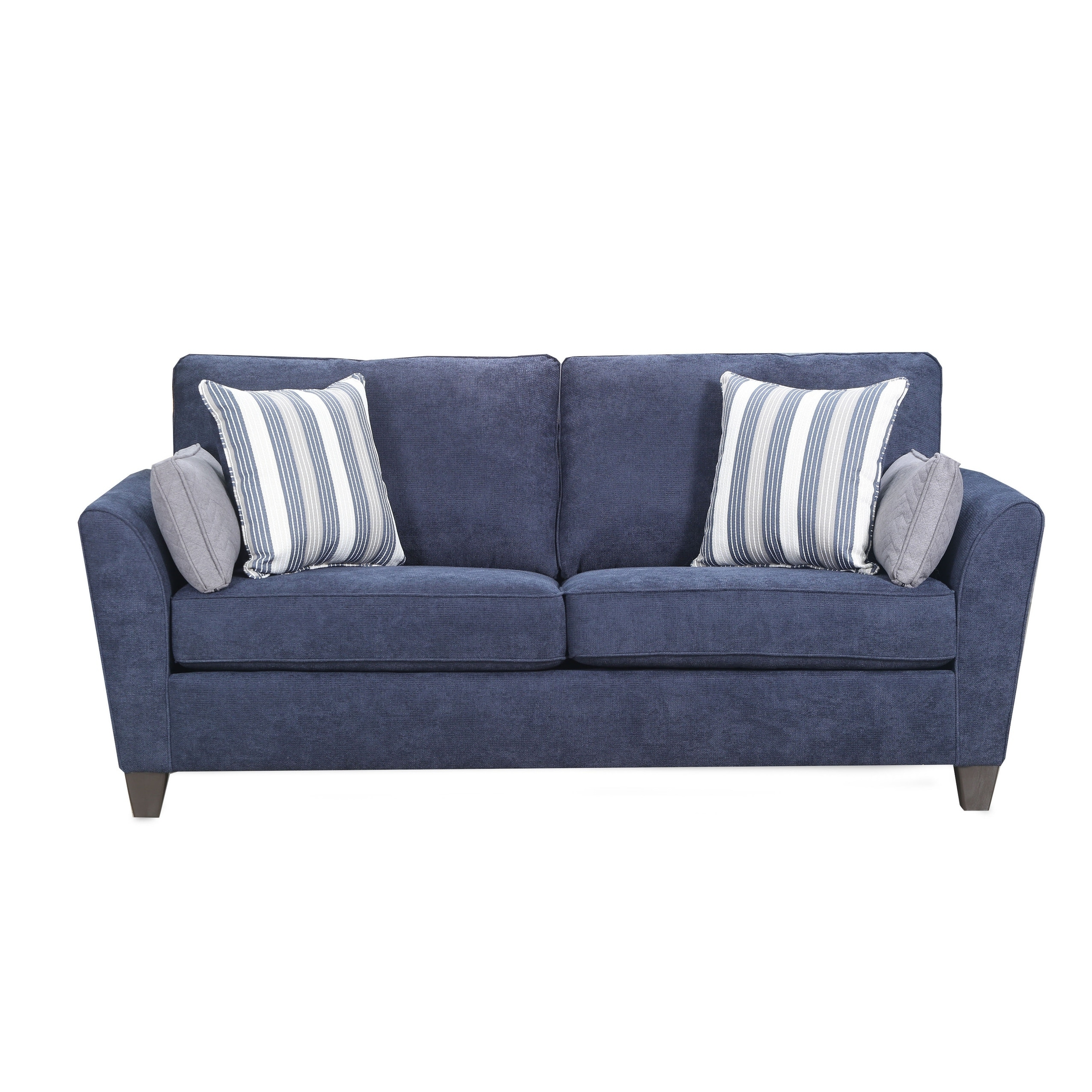 Tilly Fabric Sofa Queen Sleeper Simmons Upholstery Prelude Navy Queen Sleeper