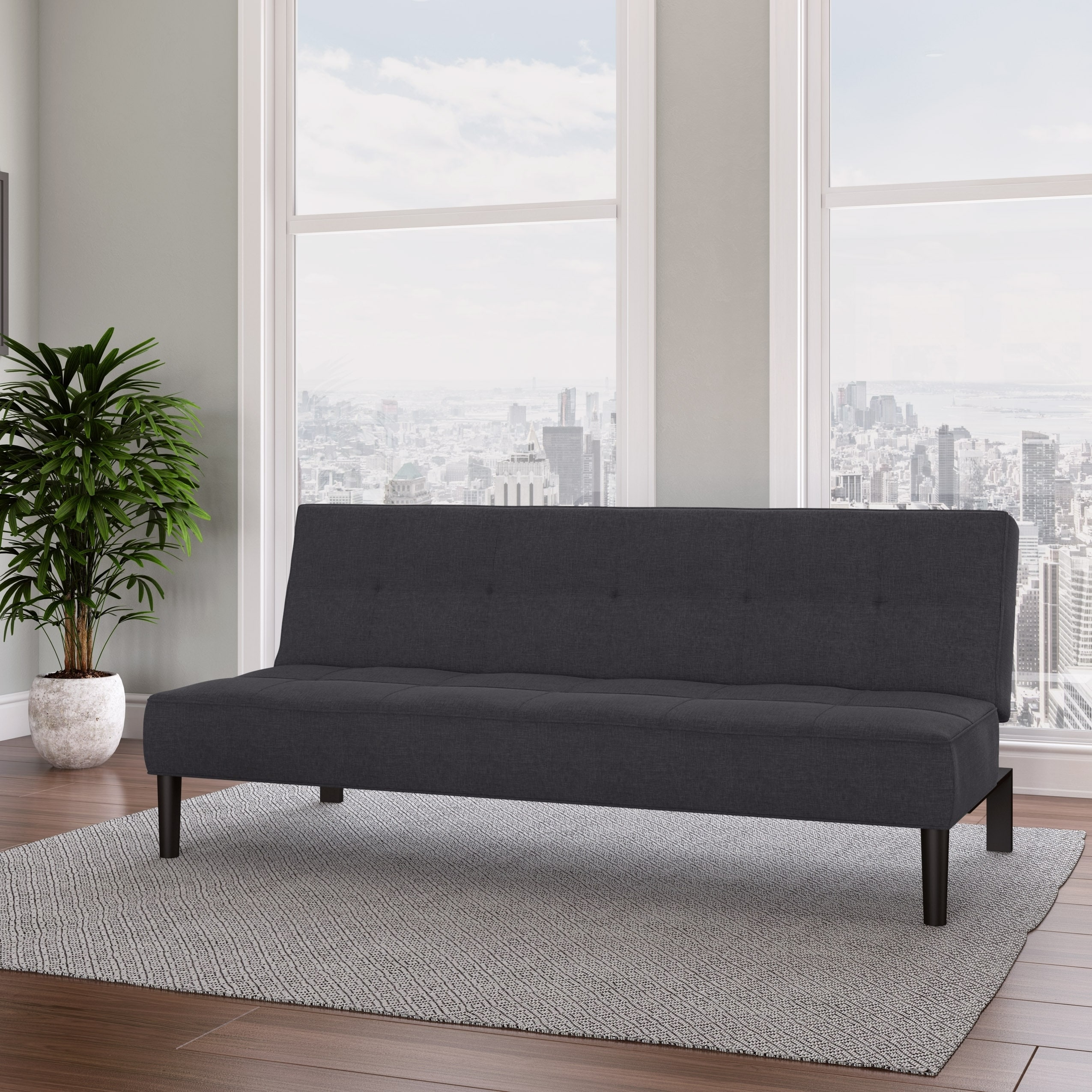 Futon Convertible 1 Place Corliving Convertible Futon Sofa Bed With Textured Mattress