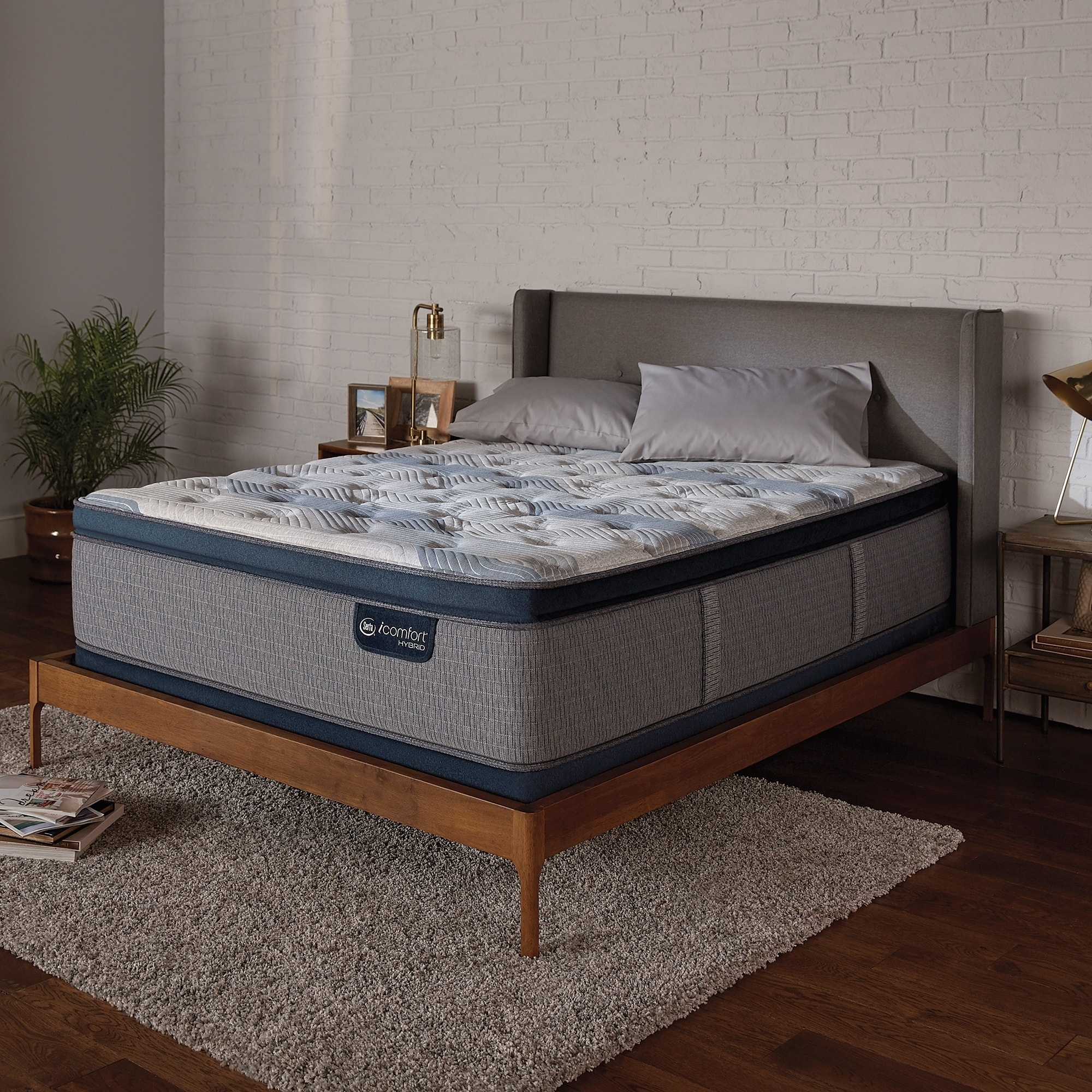 Pillow Top King Mattress Serta Icomfort Hybrid Blue Fusion 300 14 Inch Plush Pillow Top King Size Mattress